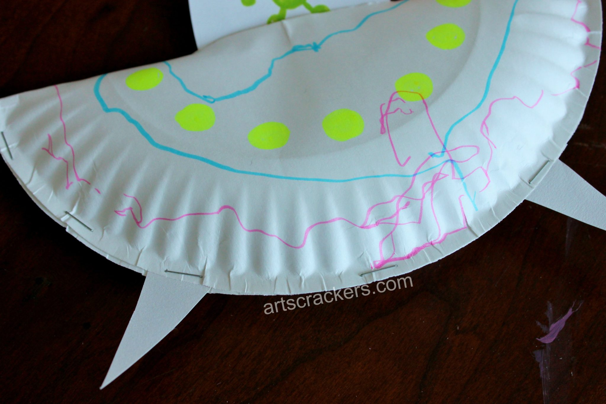 Paper Plate Flying Saucer Step 7