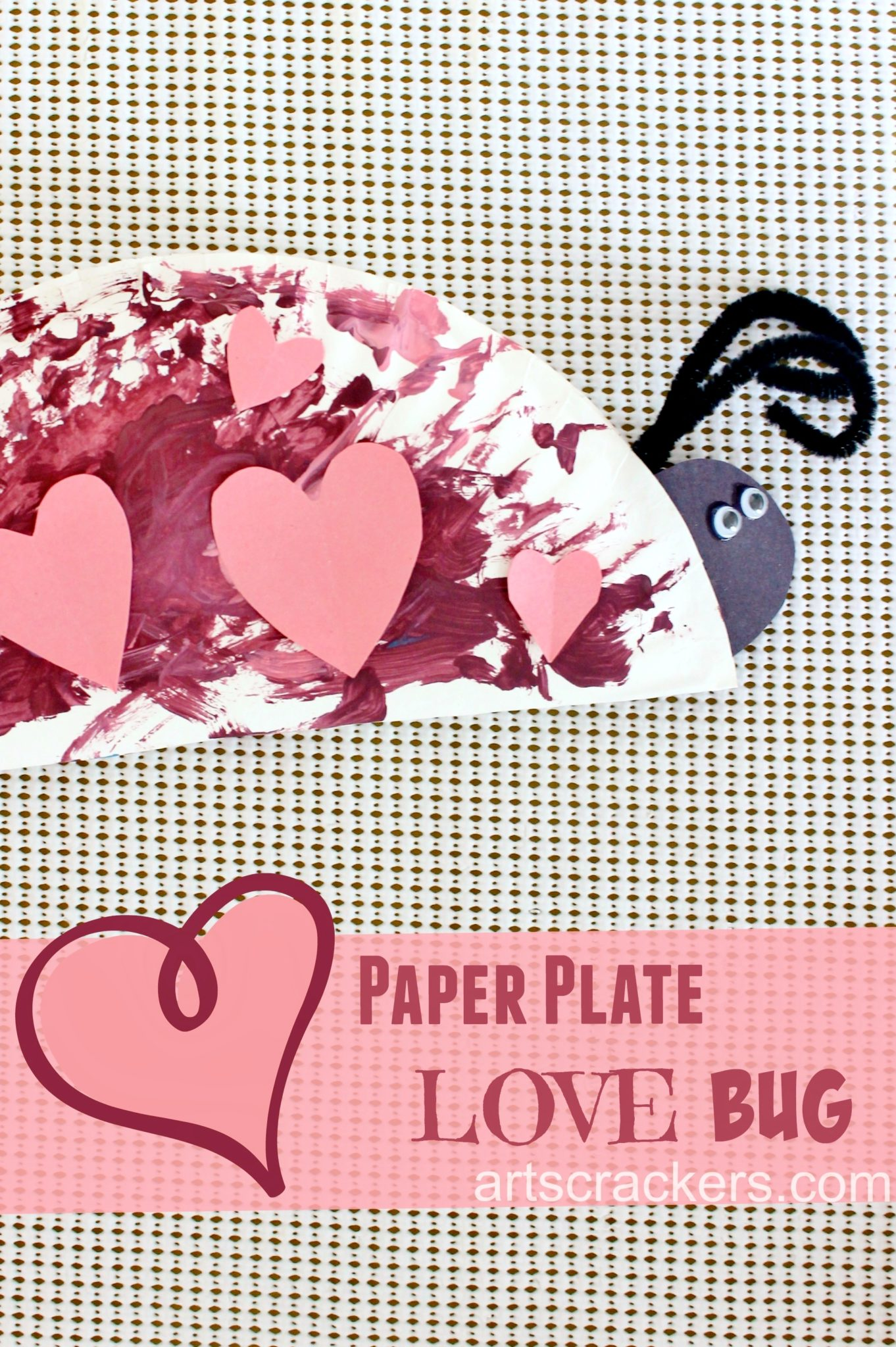 Paper Plate Love Bug Project. Click on the picture to view the tutorial.