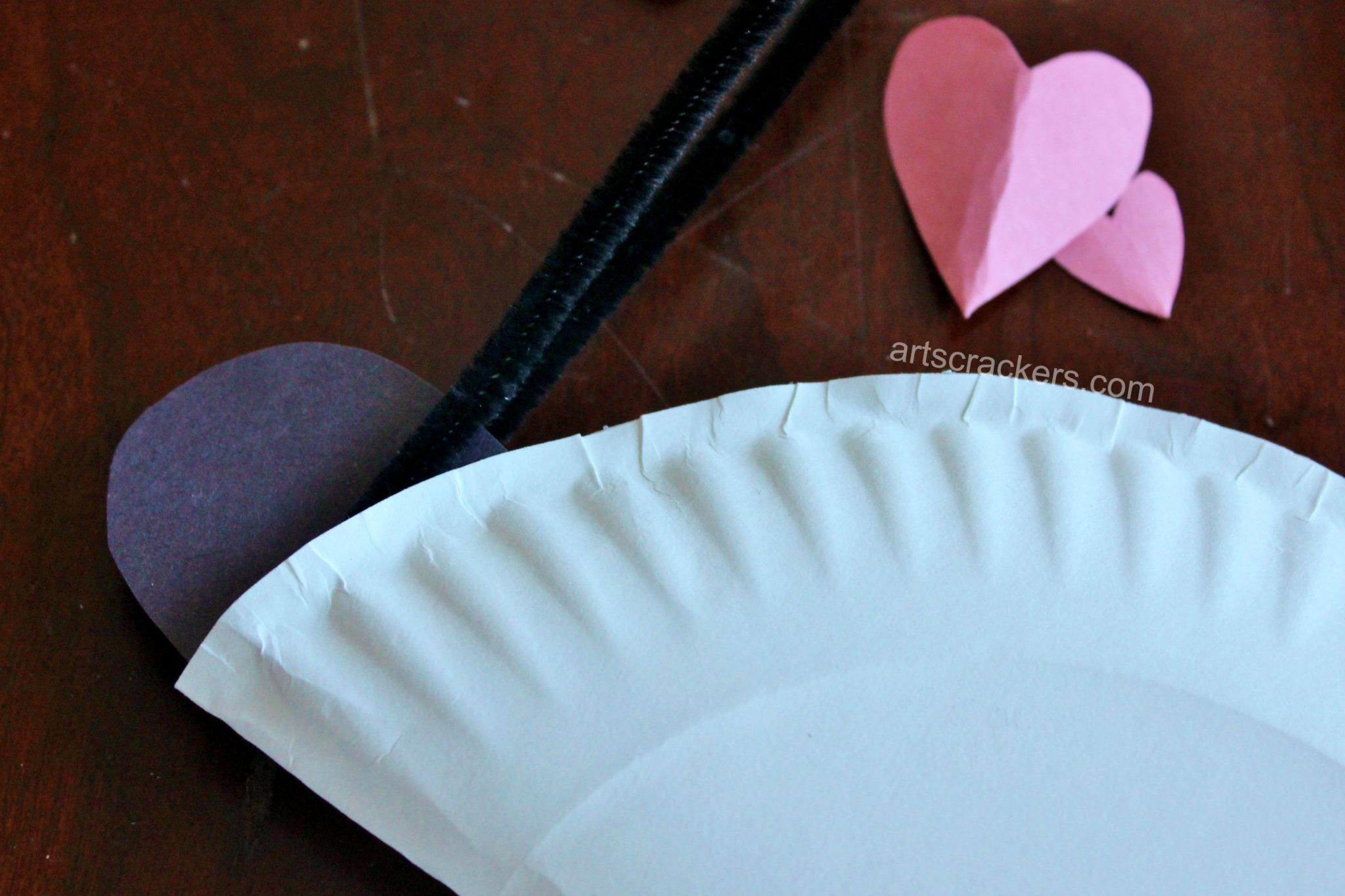 Paper Plate Love Bug Step 3