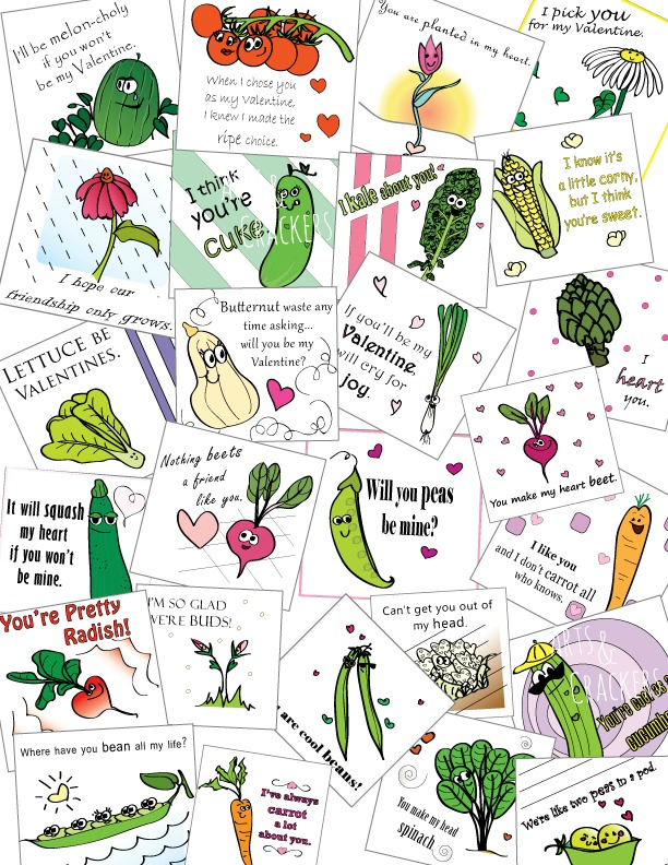 Printable Valentines -Full-Color-Seed-Packet-Designs