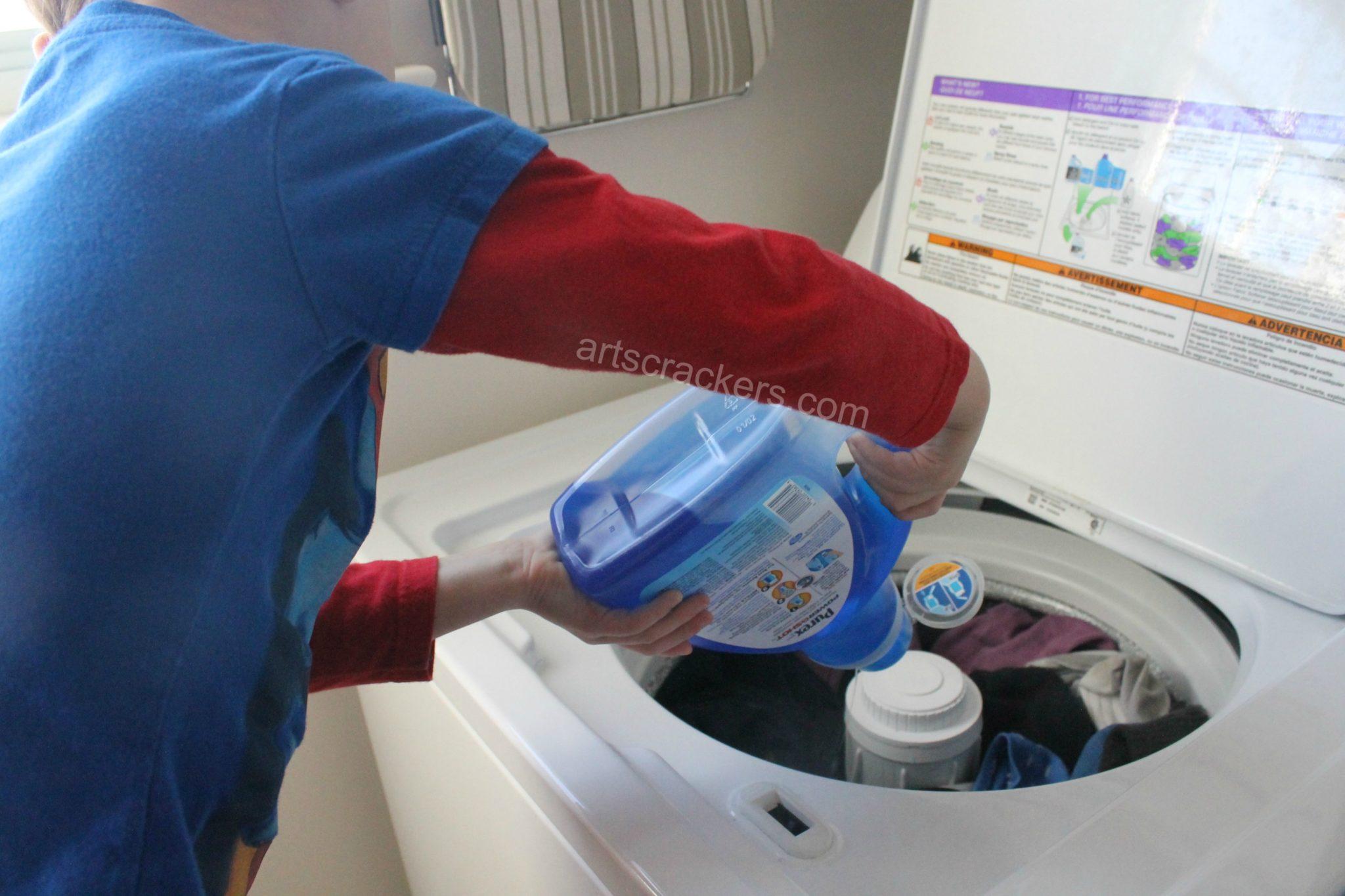 Purex PowerShot Detergent Used By Kids