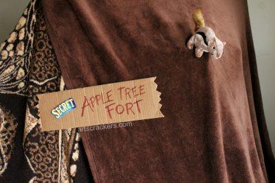 Secret Apple Tree Fort Sign