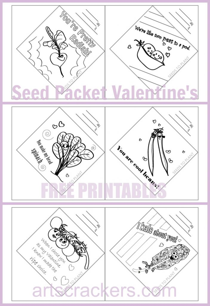Seed Packet Valentines Six Free Printables