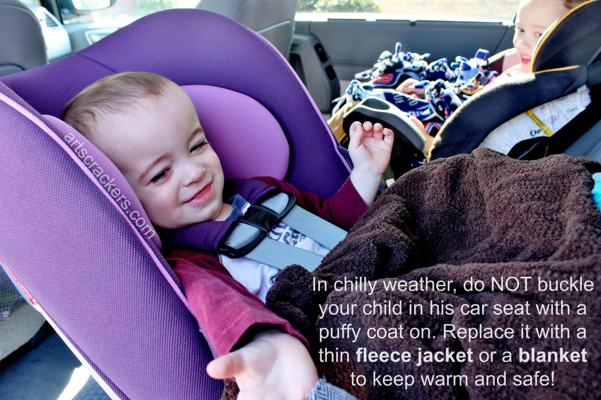Winter Weather Car Seat Safety Tip. No puffy coats!