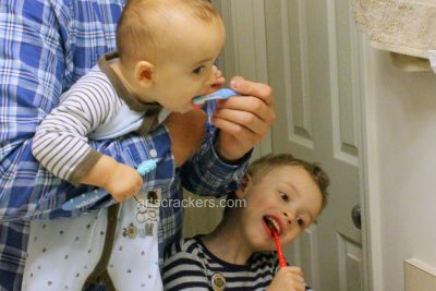 National Children's Dental Health Month Brushing Teeth