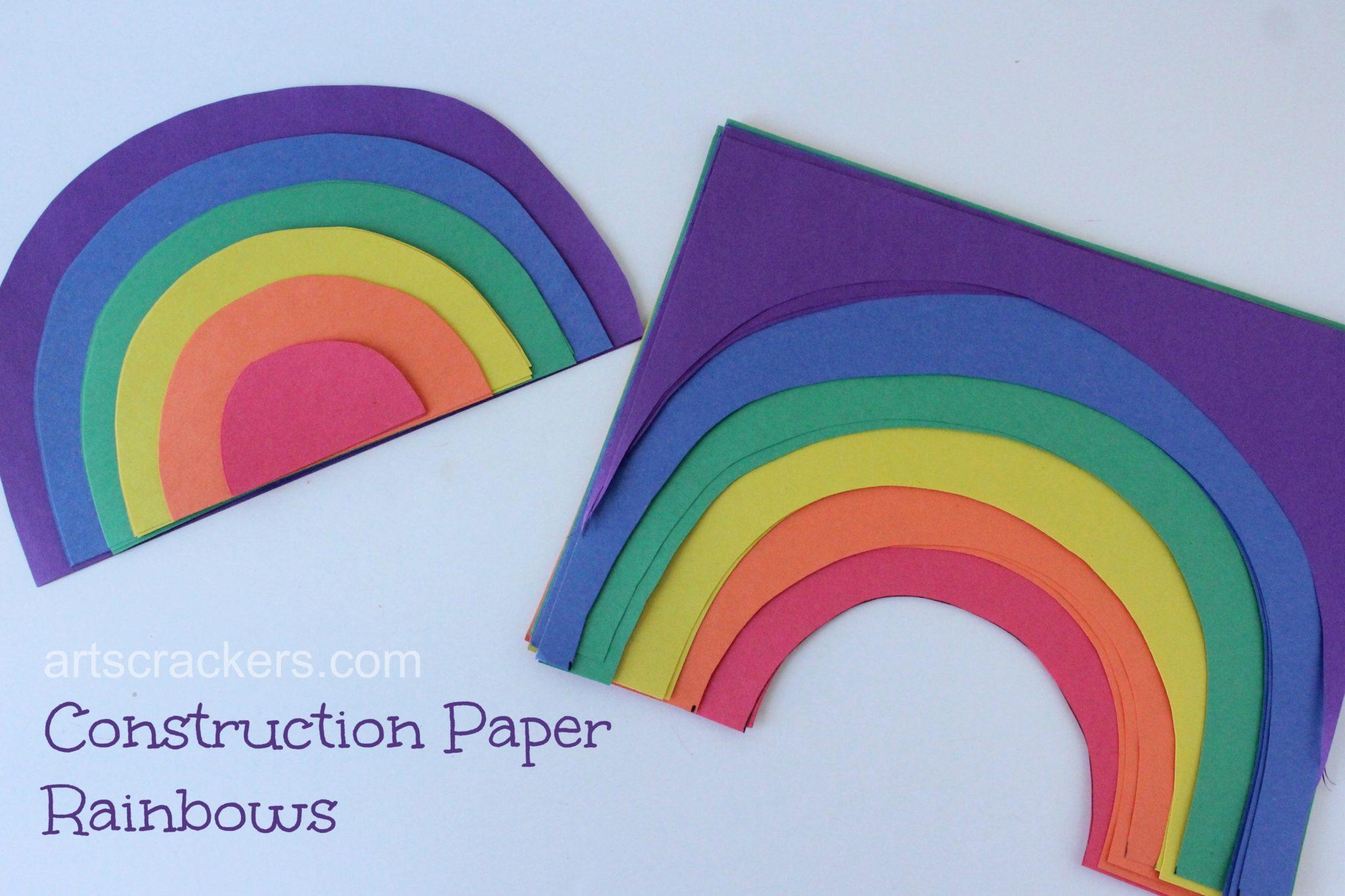 Construction Paper Rainbows