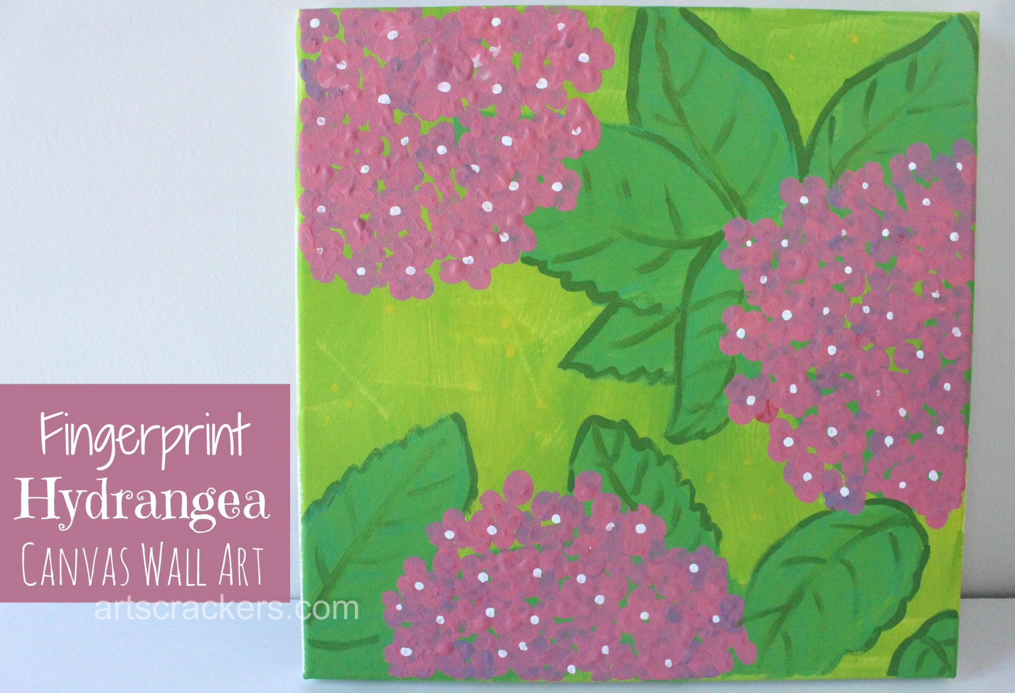 Fingerprint Hydrangea Canvas Wall Art. Click the picture to view the tutorial.