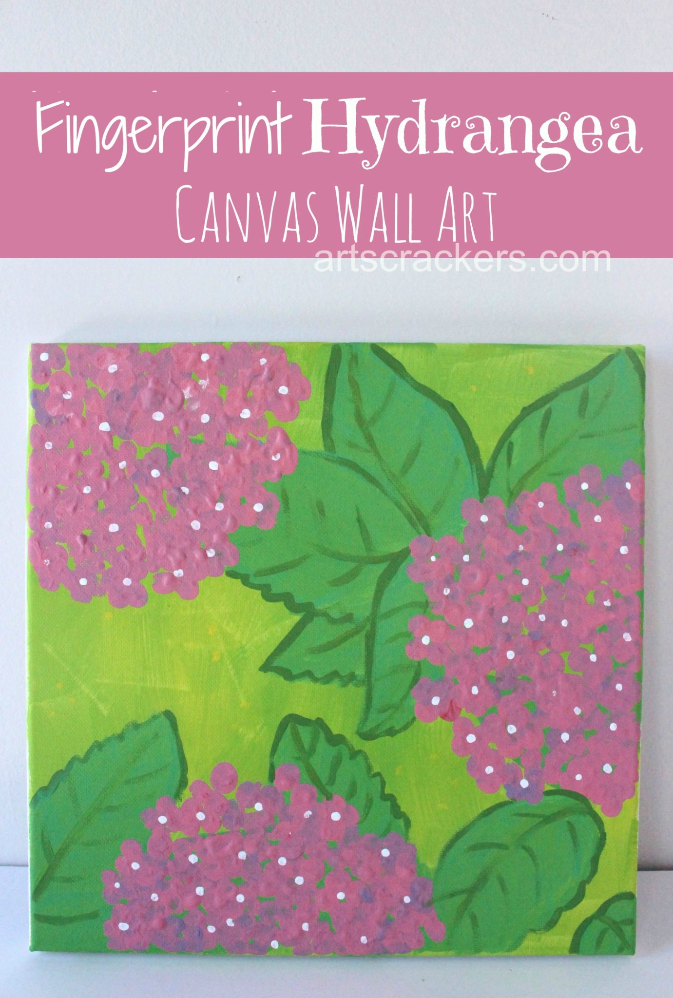 Fingerprint Hydrangea Keepsake Canvas Wall Art. Click the picture to view the tutorial.