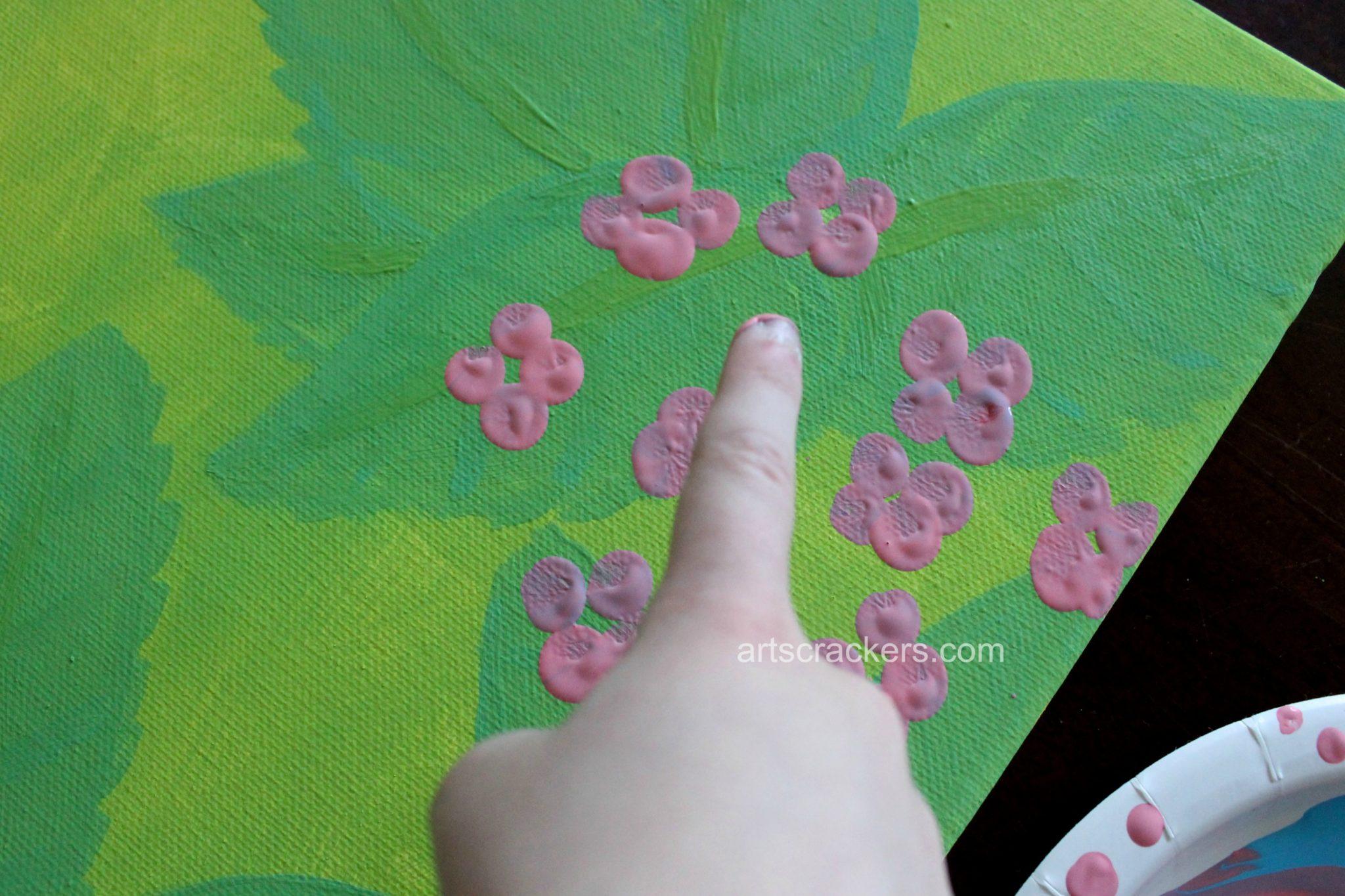 Fingerprint Hydrangea Step 3