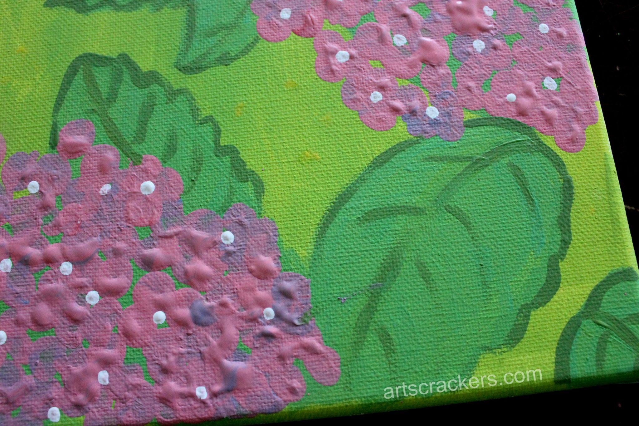 Fingerprint Hydrangea Step 6