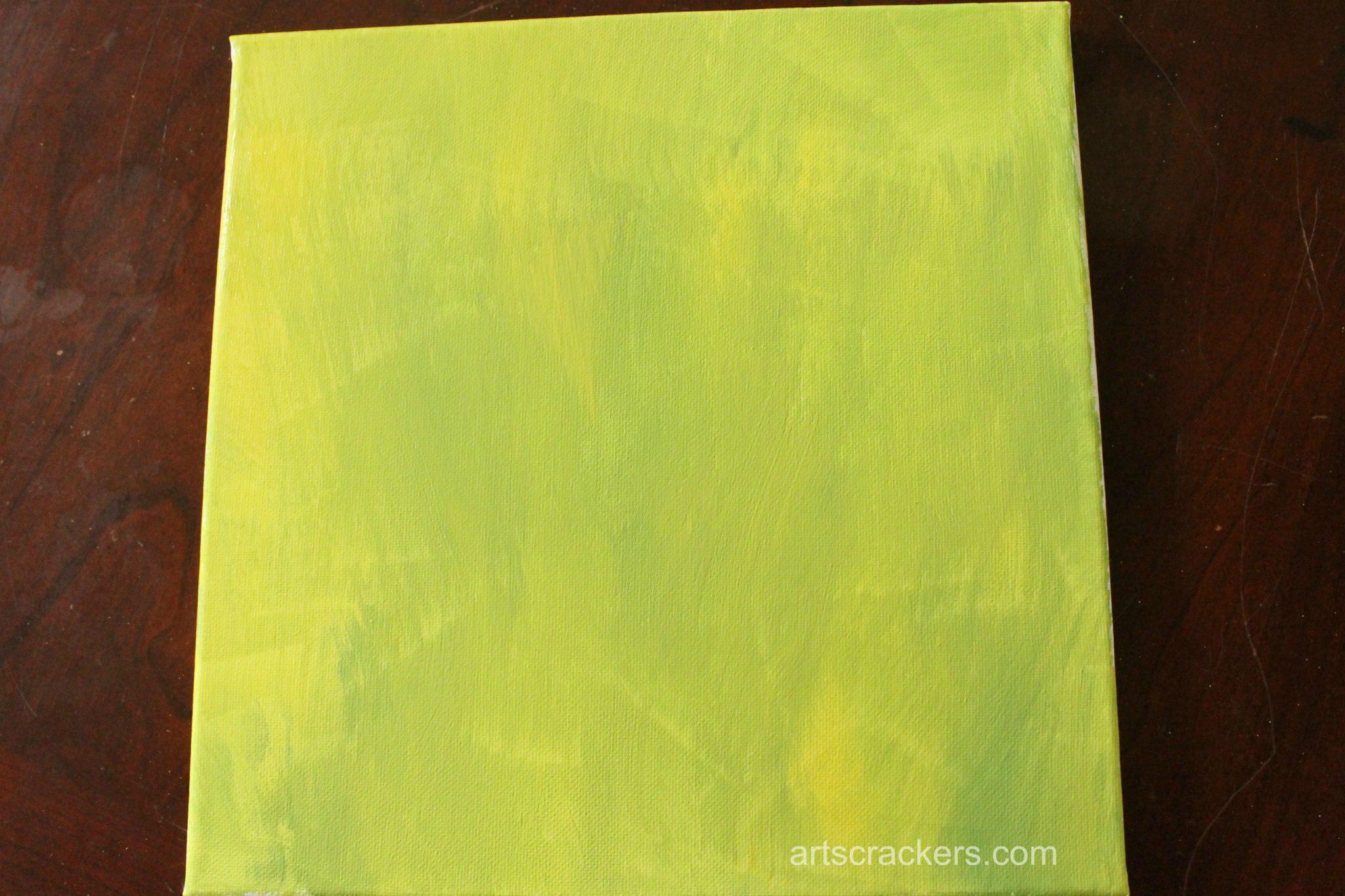 Handprint Spring Blooms Canvas Step 1