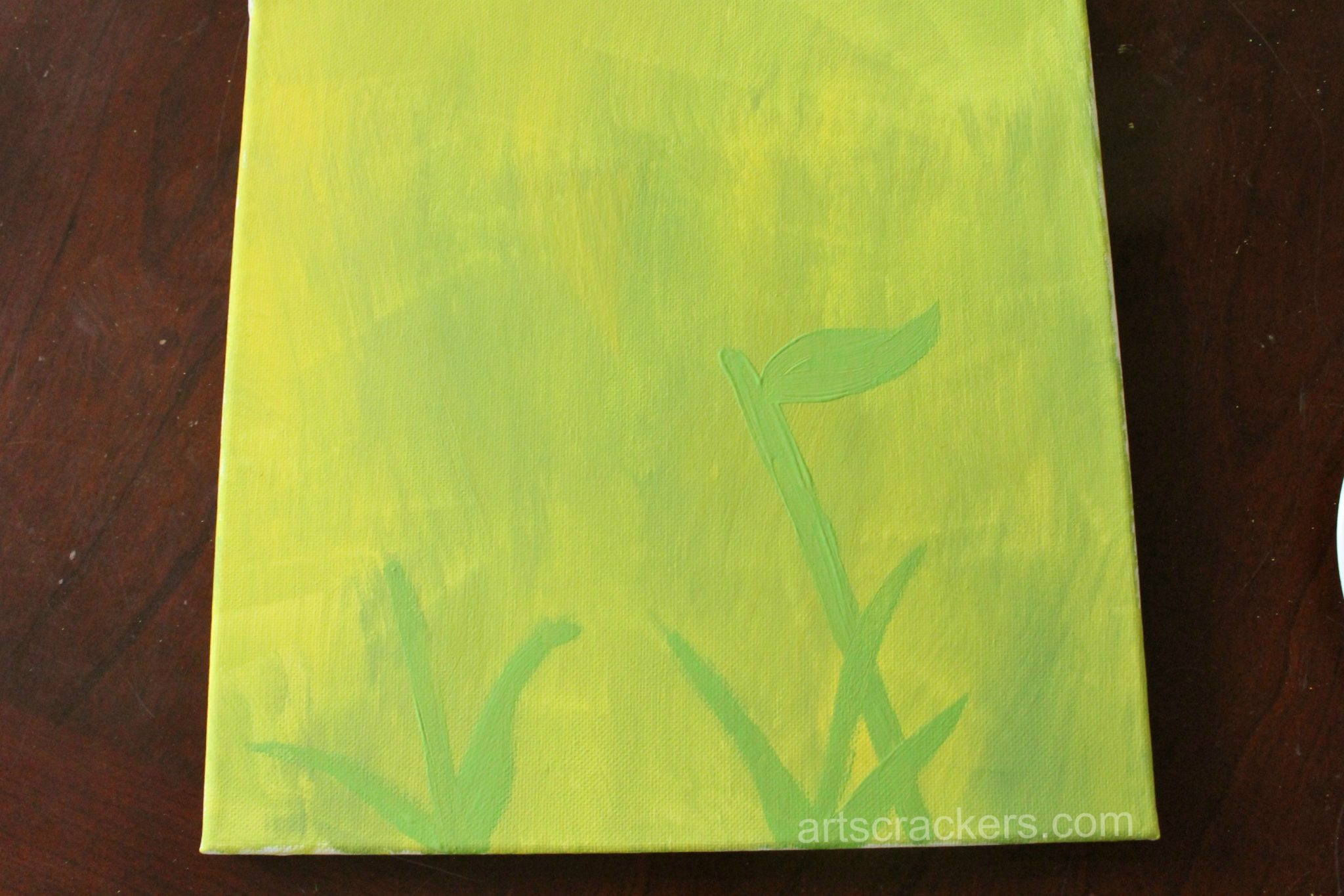 Handprint Spring Blooms Canvas Step 2
