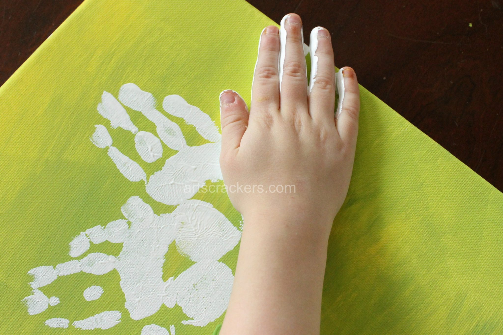 Handprint Spring Blooms Canvas Step 4