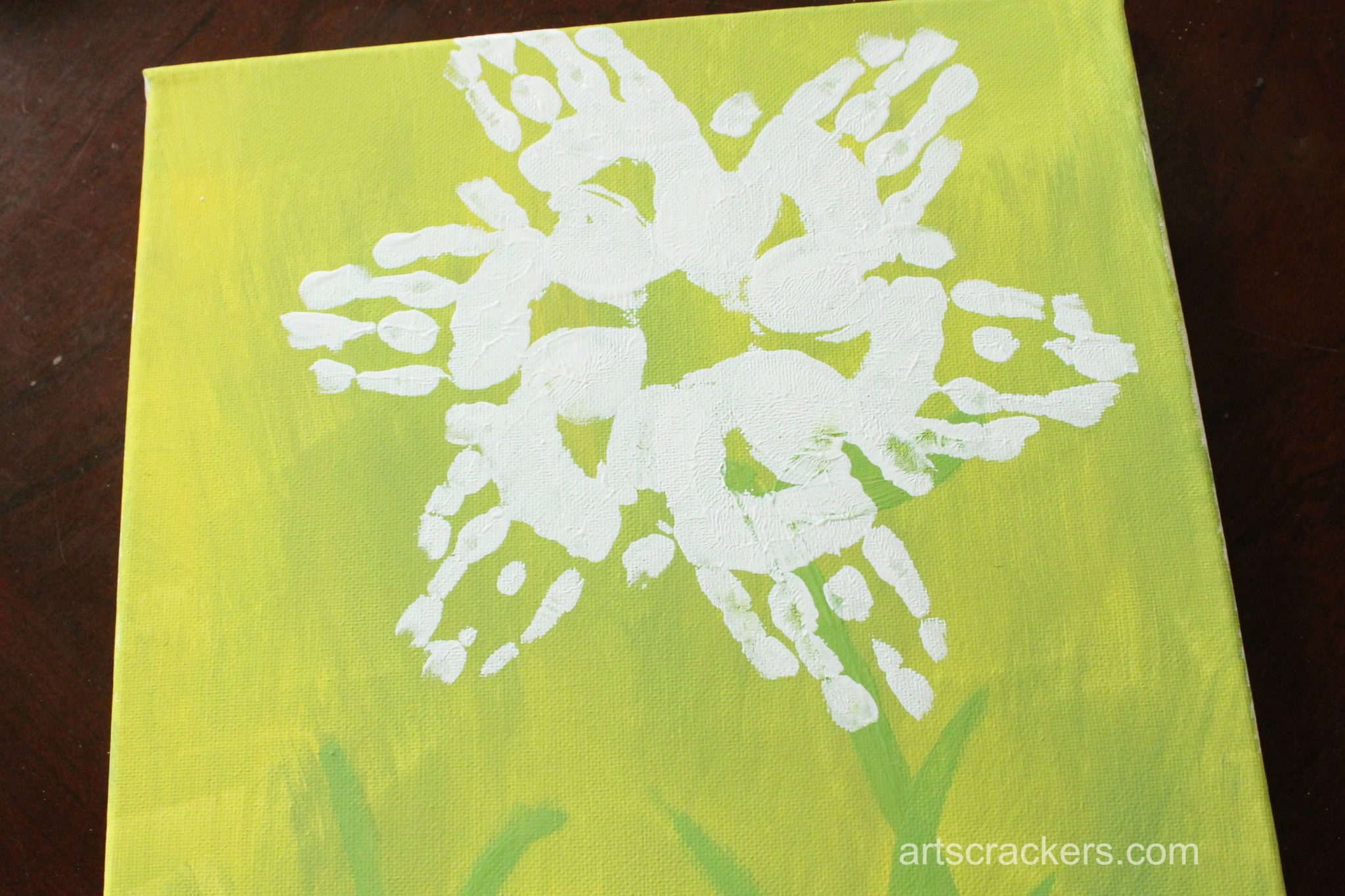 Handprint Spring Blooms Canvas Step 5
