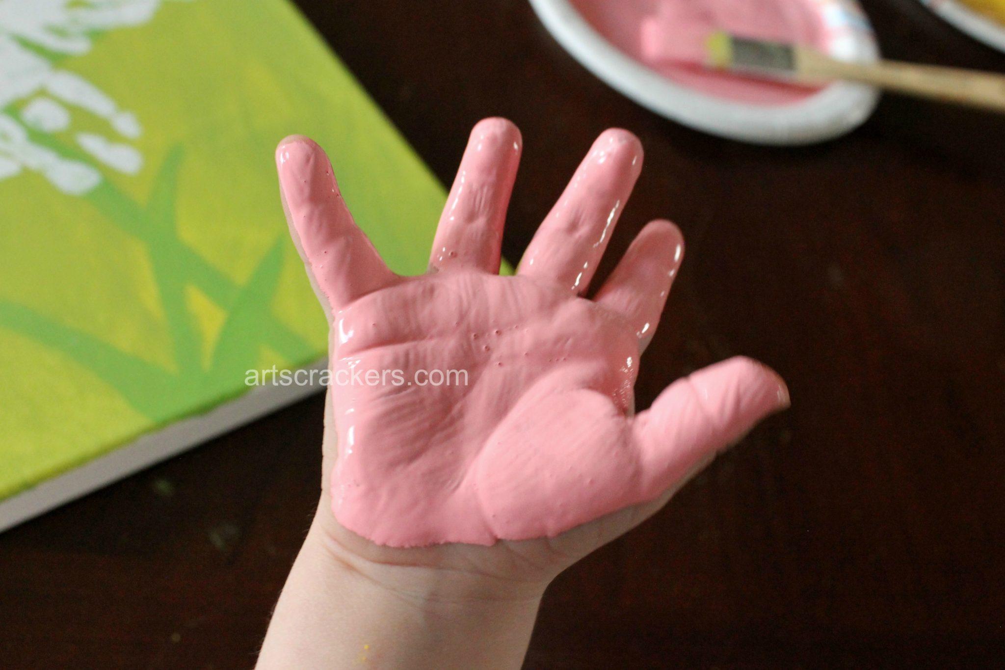 Handprint Spring Blooms Canvas Step 6
