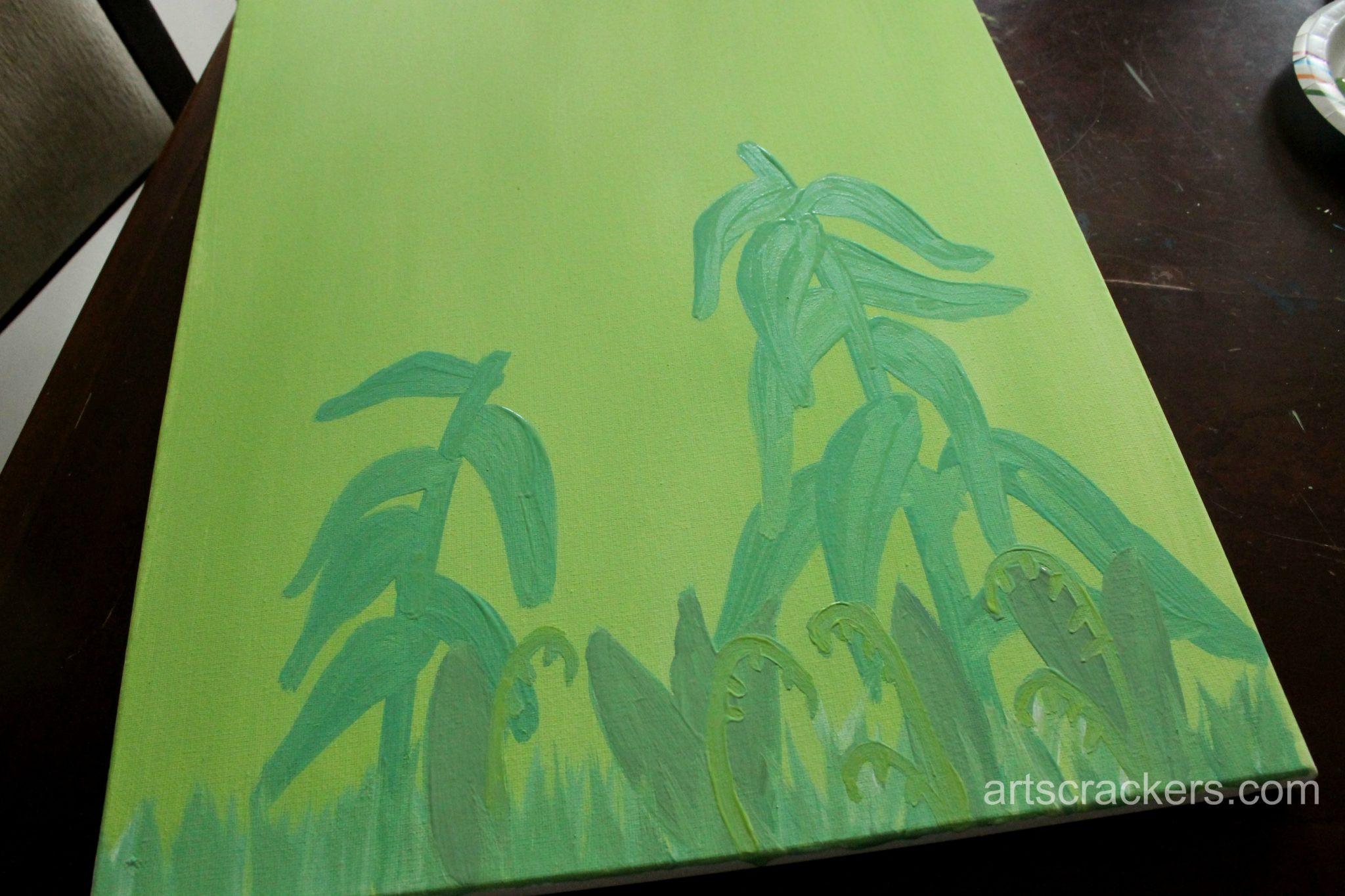 Handprint and Fingerprint Lilies Step 2