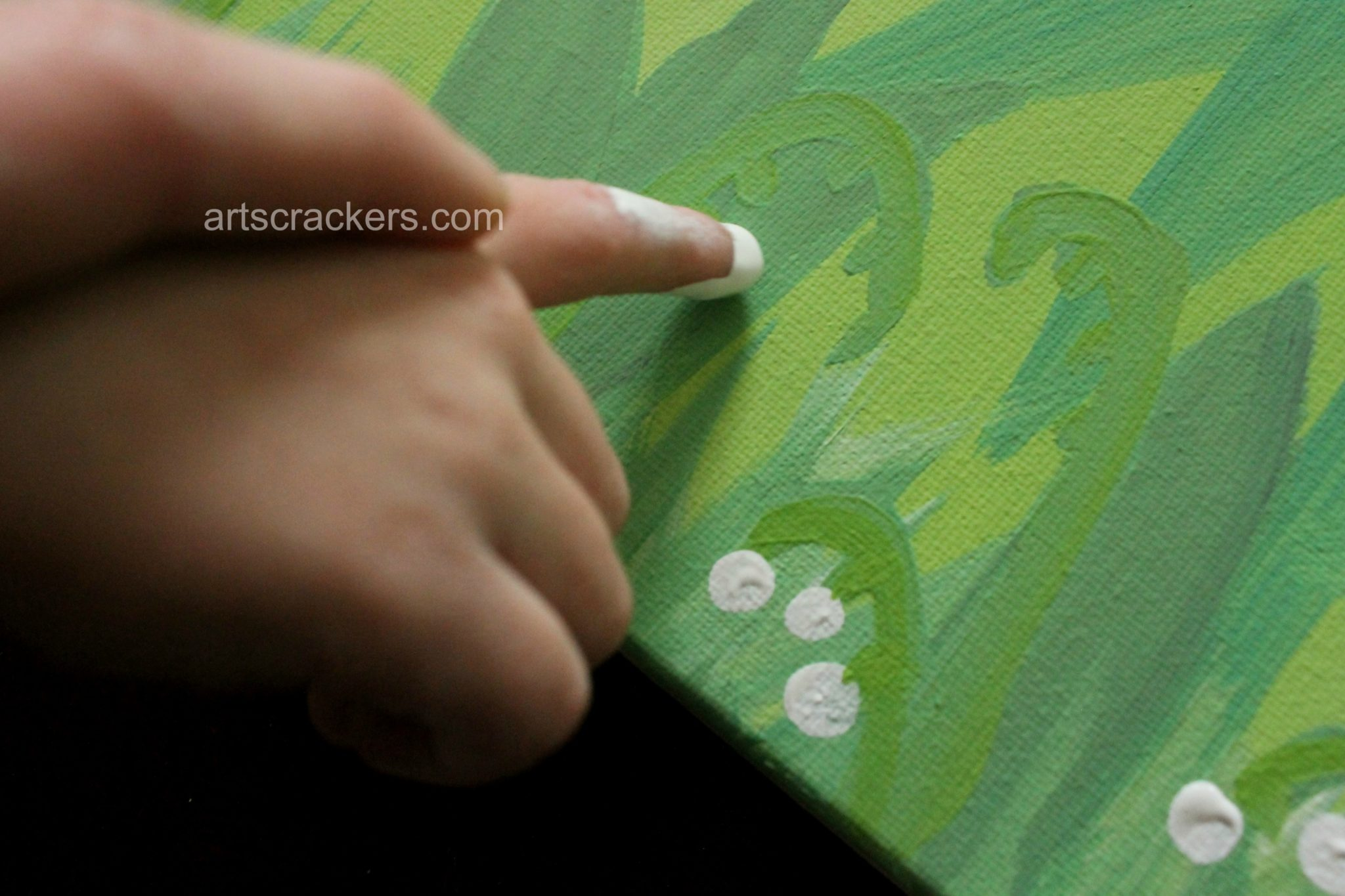 Handprint and Fingerprint Lilies Step 7