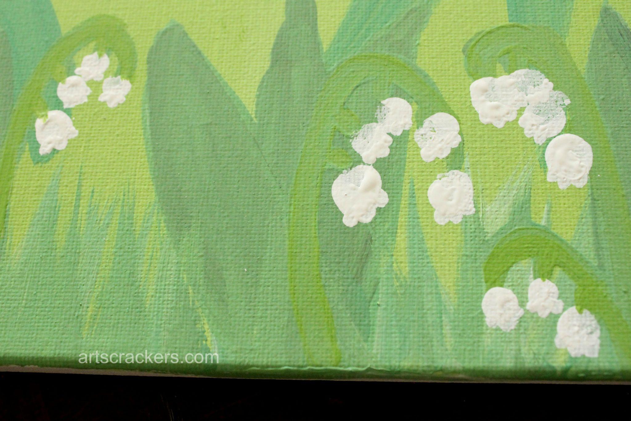 Handprint and Fingerprint Lilies Step 9