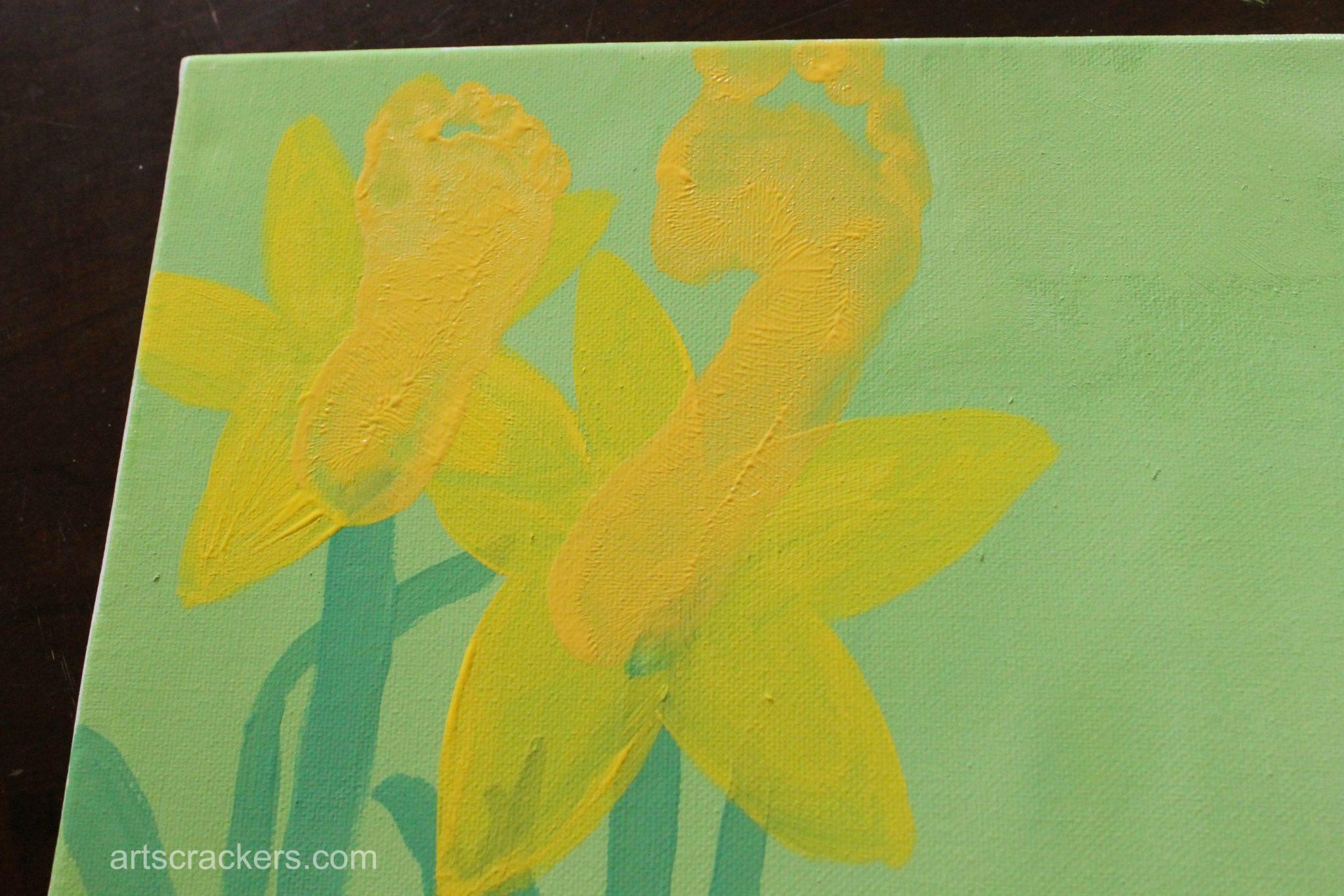 Handprint and Footprint Spring Flowers Step 4