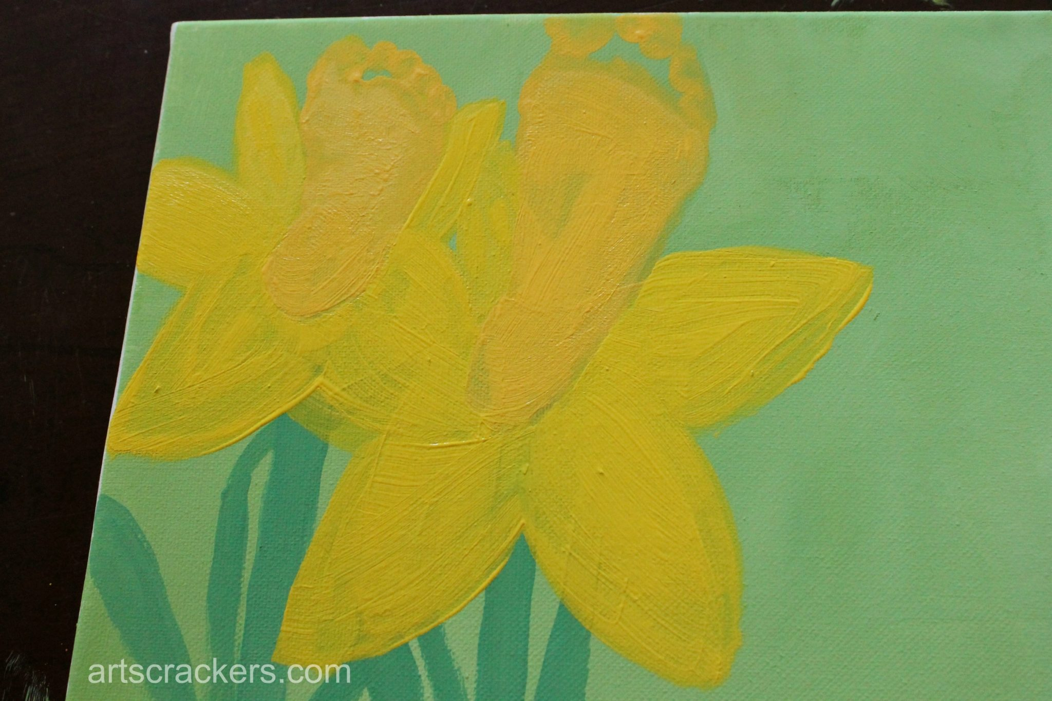 Handprint and Footprint Spring Flowers Step 5