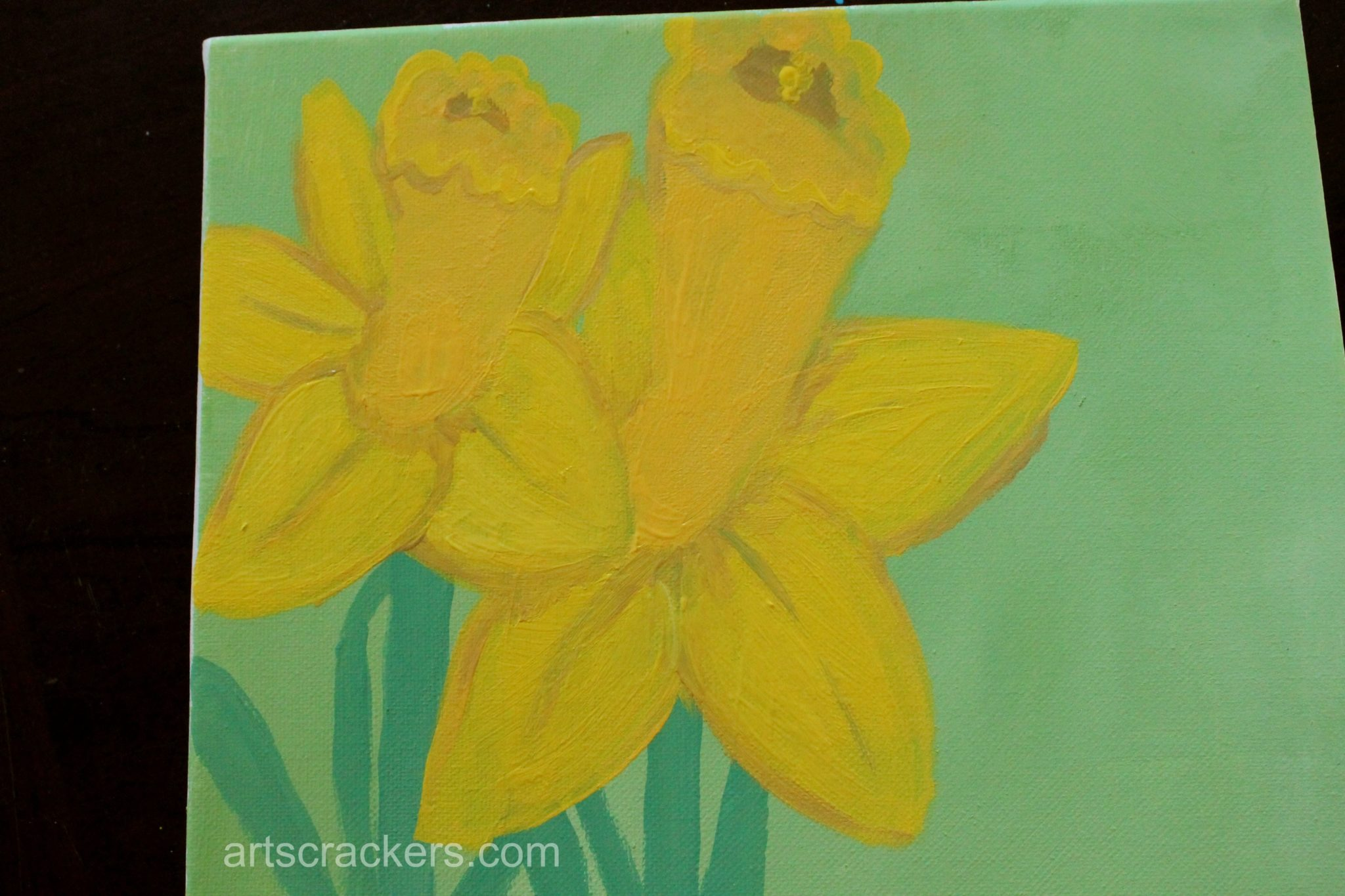 Handprint and Footprint Spring Flowers Step 6