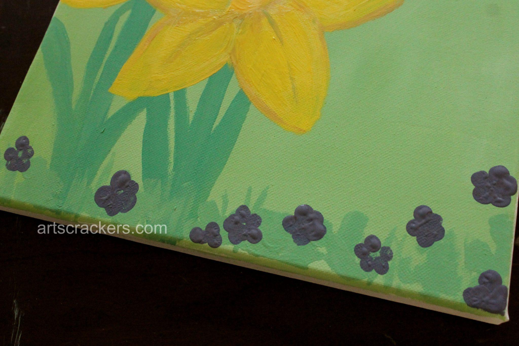 Handprint and Footprint Spring Flowers Step 7