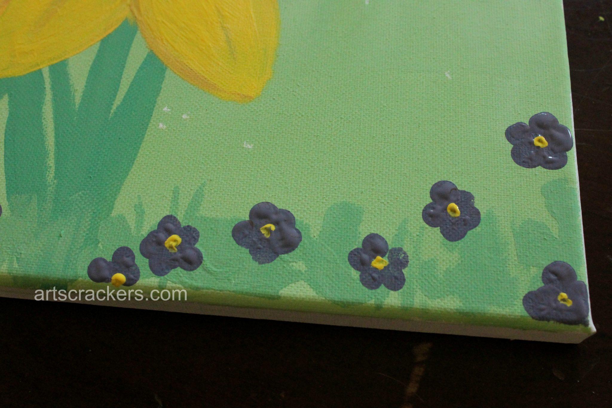 Handprint and Footprint Spring Flowers Step 8