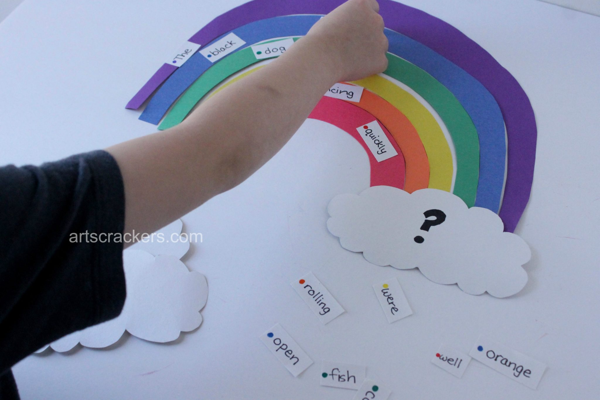 Rainbow  Sentence Building Activity Grammar. Click the picture to view the tutorial.