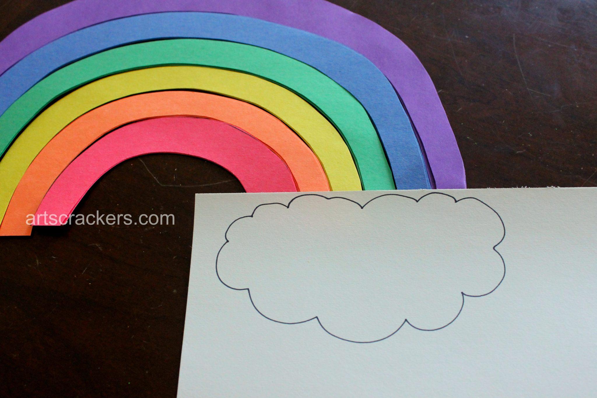 Rainbow Sentence Building Activity Step 3
