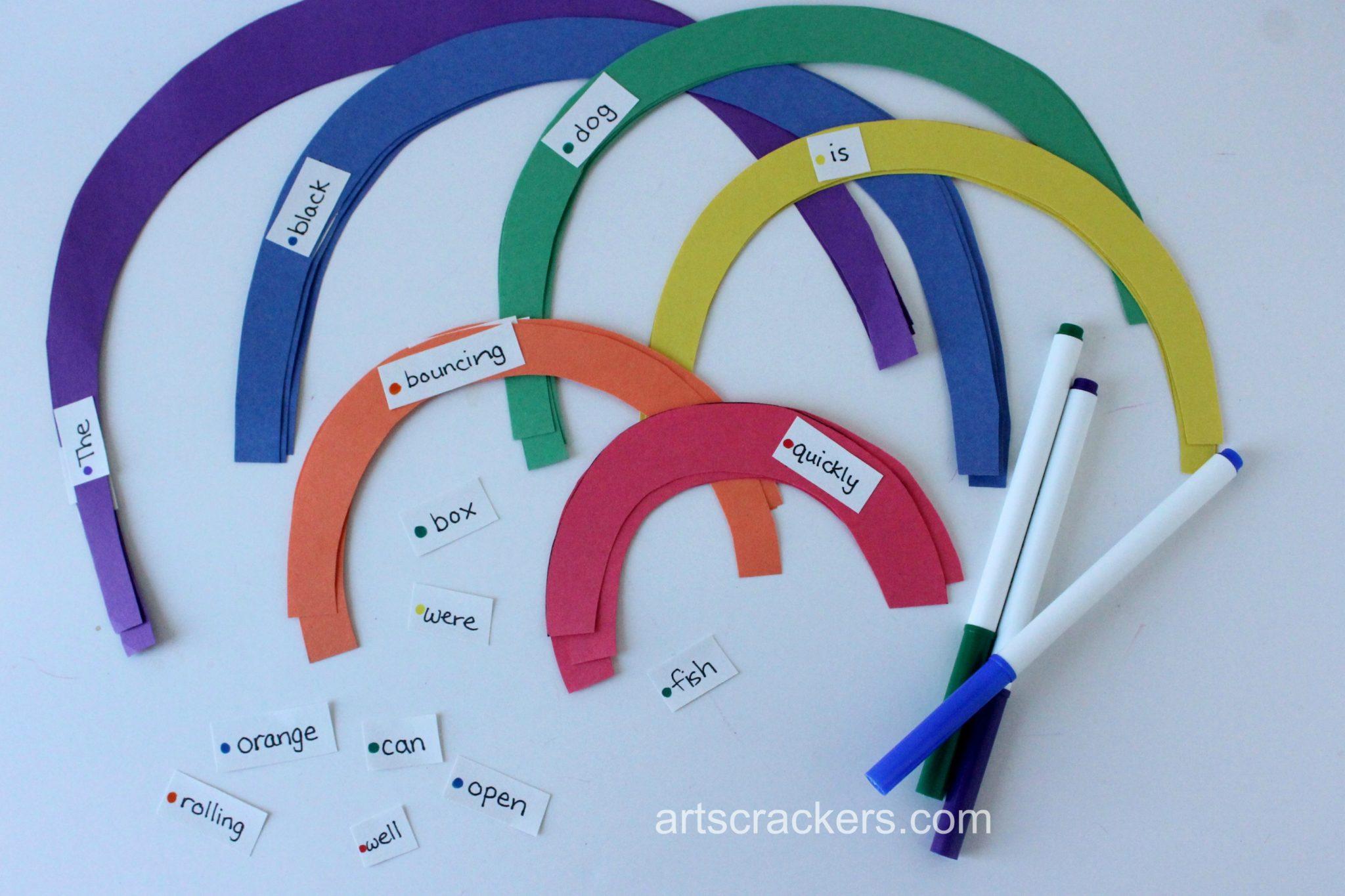 Rainbow Sentence Building Activity Step 6
