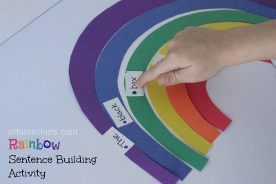 Rainbow Sentence Building Activity Teaching Kids