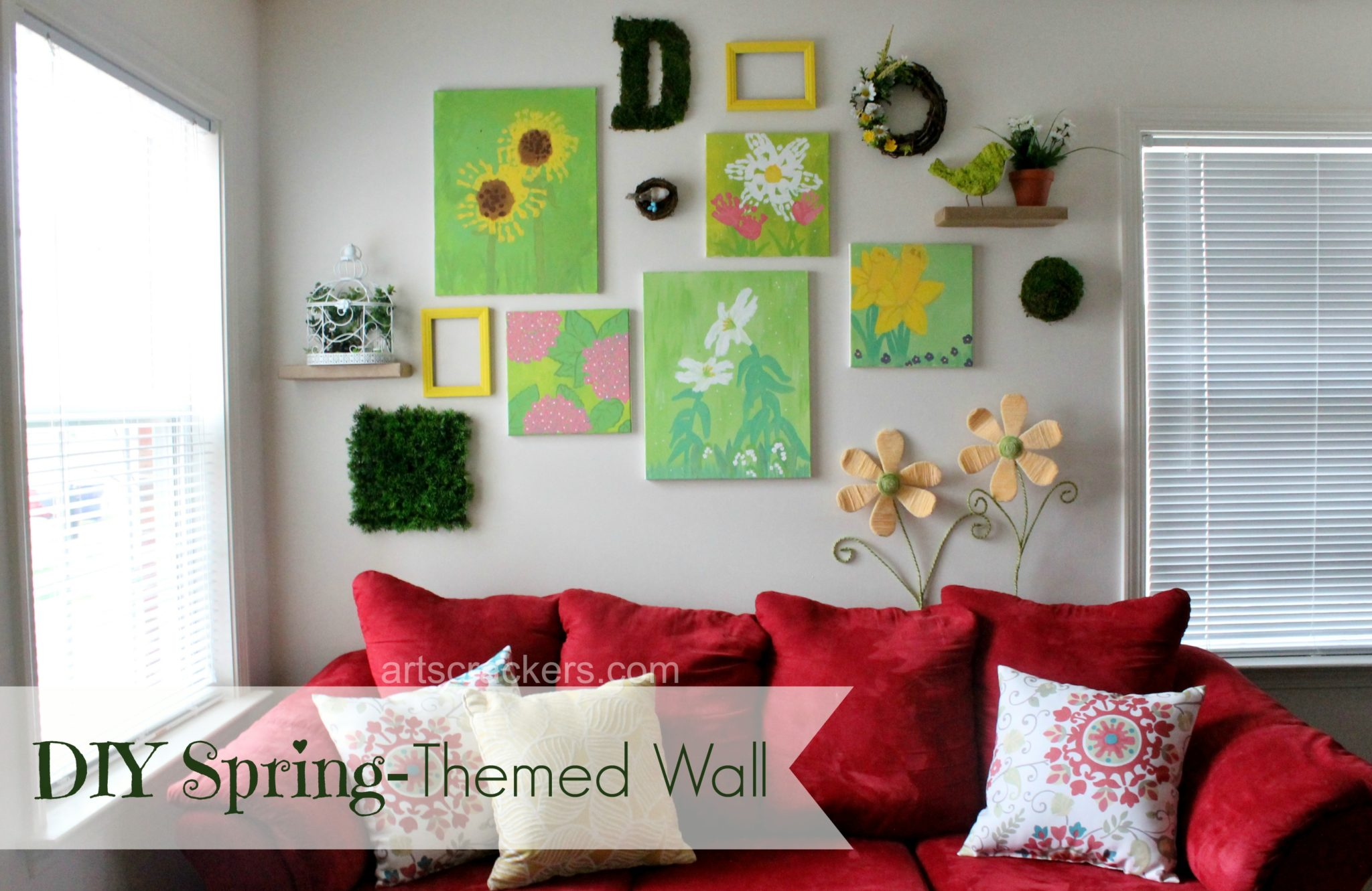 DIY Spring Themed Wall Collage. Click the picture to see how it's done.