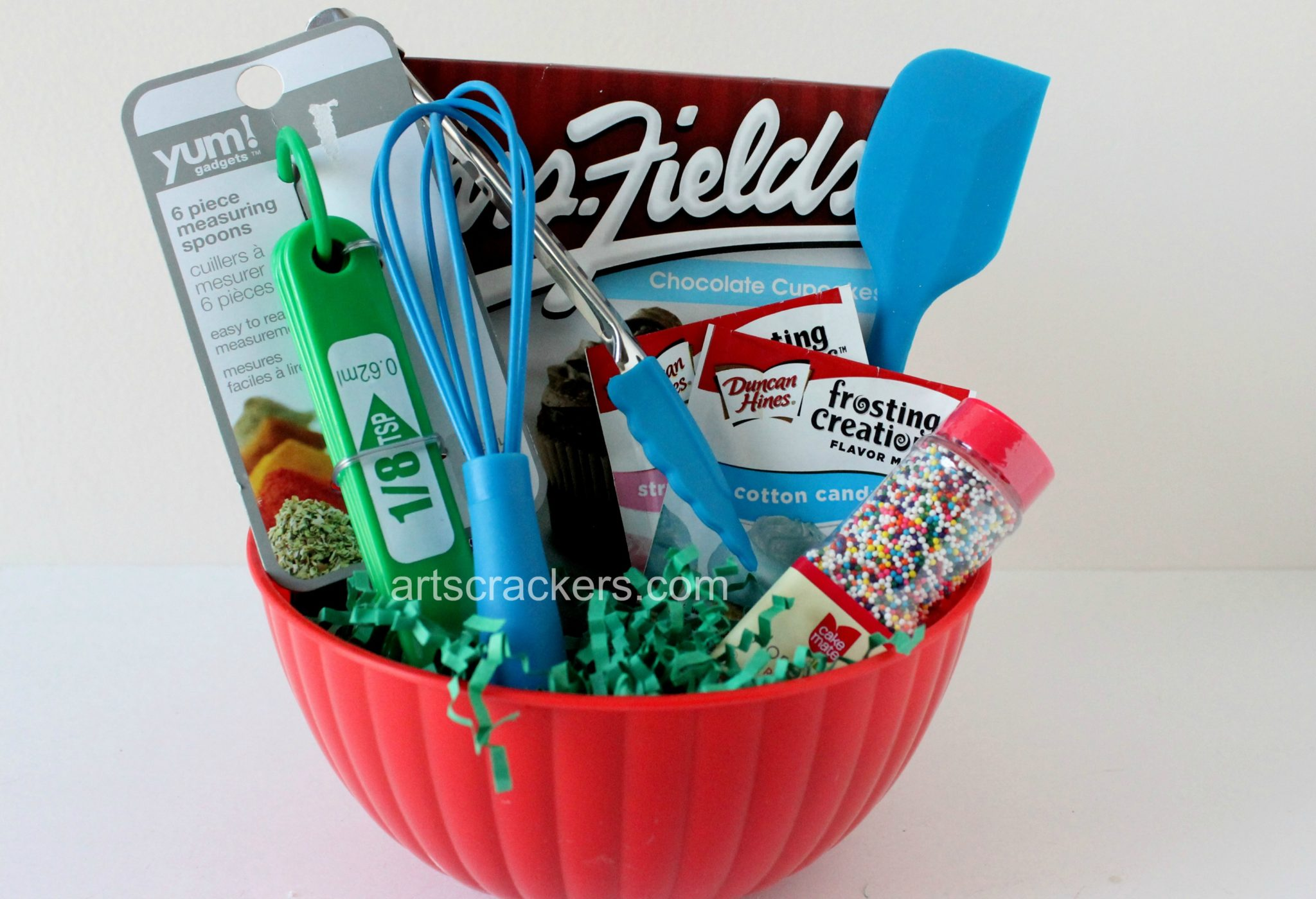 Easter Basket for Little Bakers. Click the picture to view a huge list of basket filler ideas.