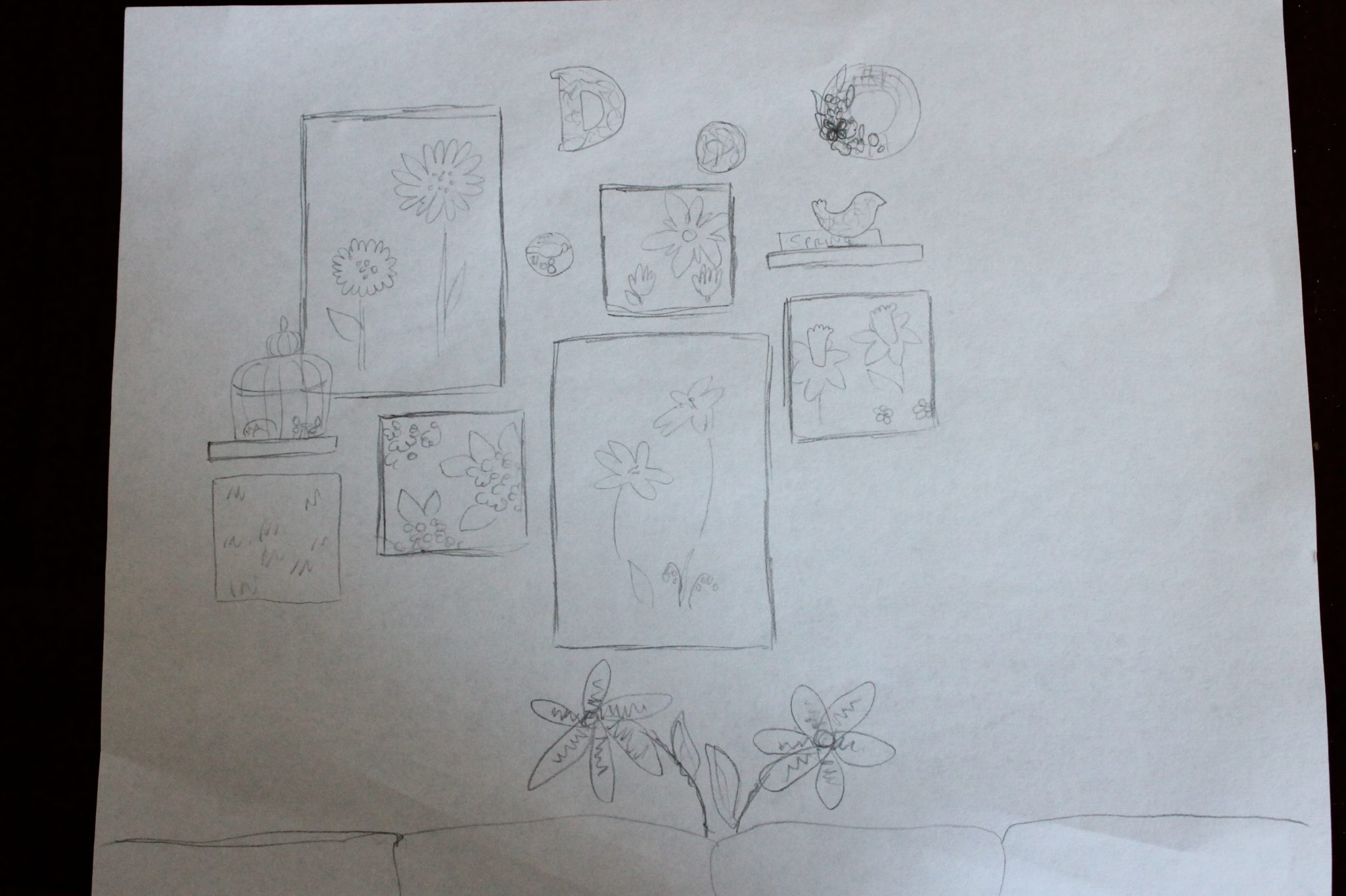 Spring Wall Drawn Plans