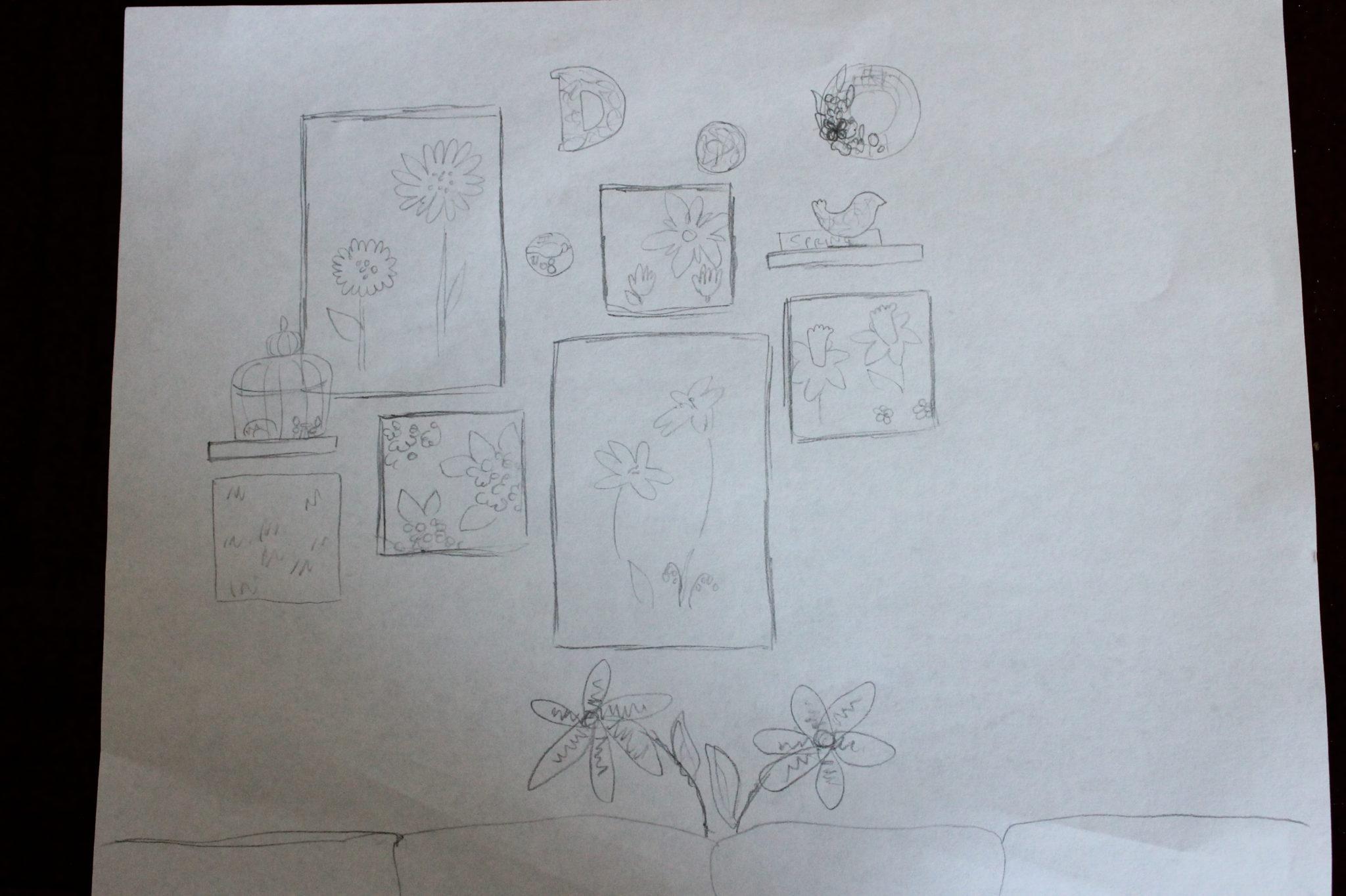 Spring Wall Drawn Plans