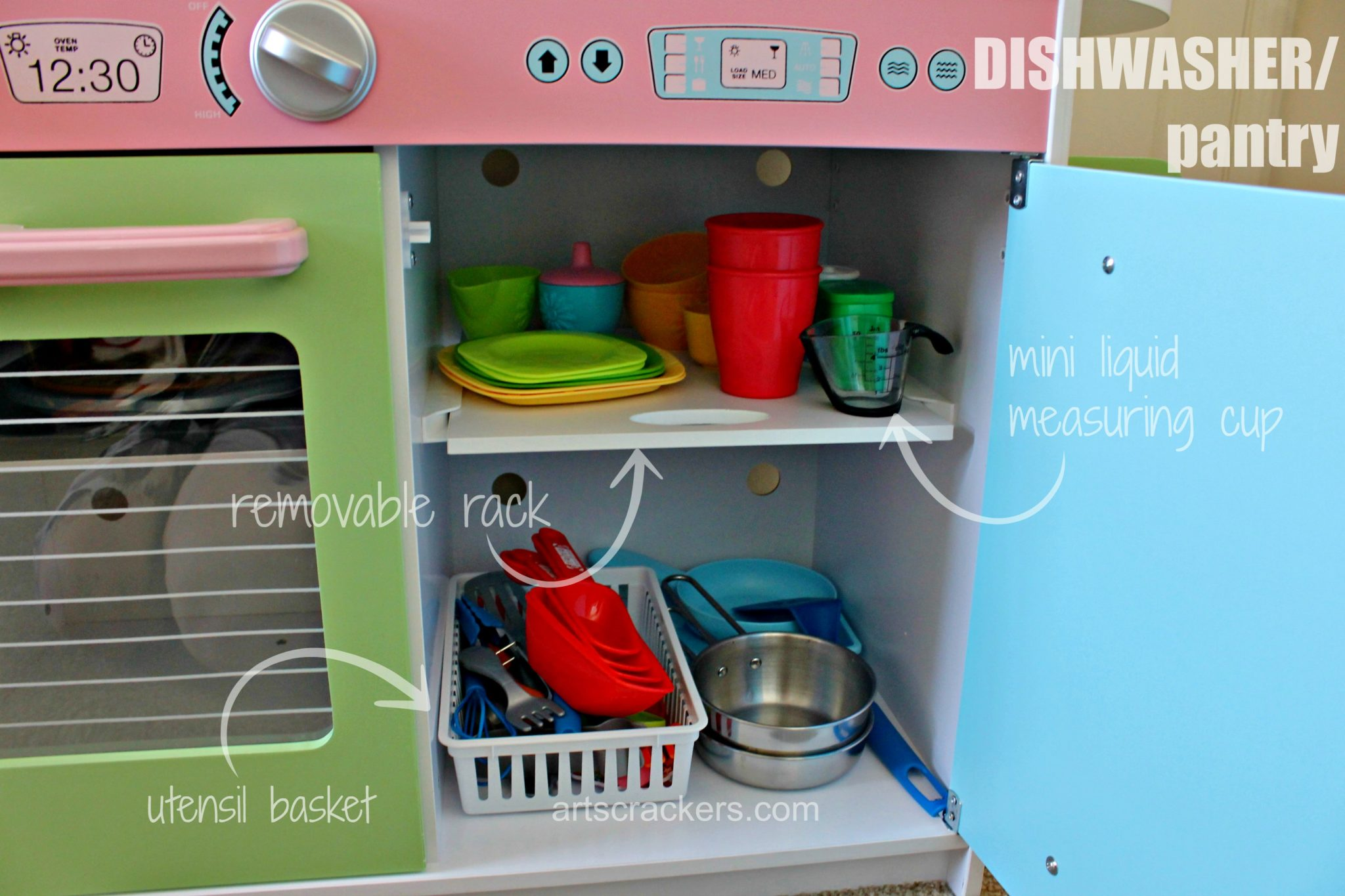 KidKraft Uptown Pastel Kitchen Dishwasher