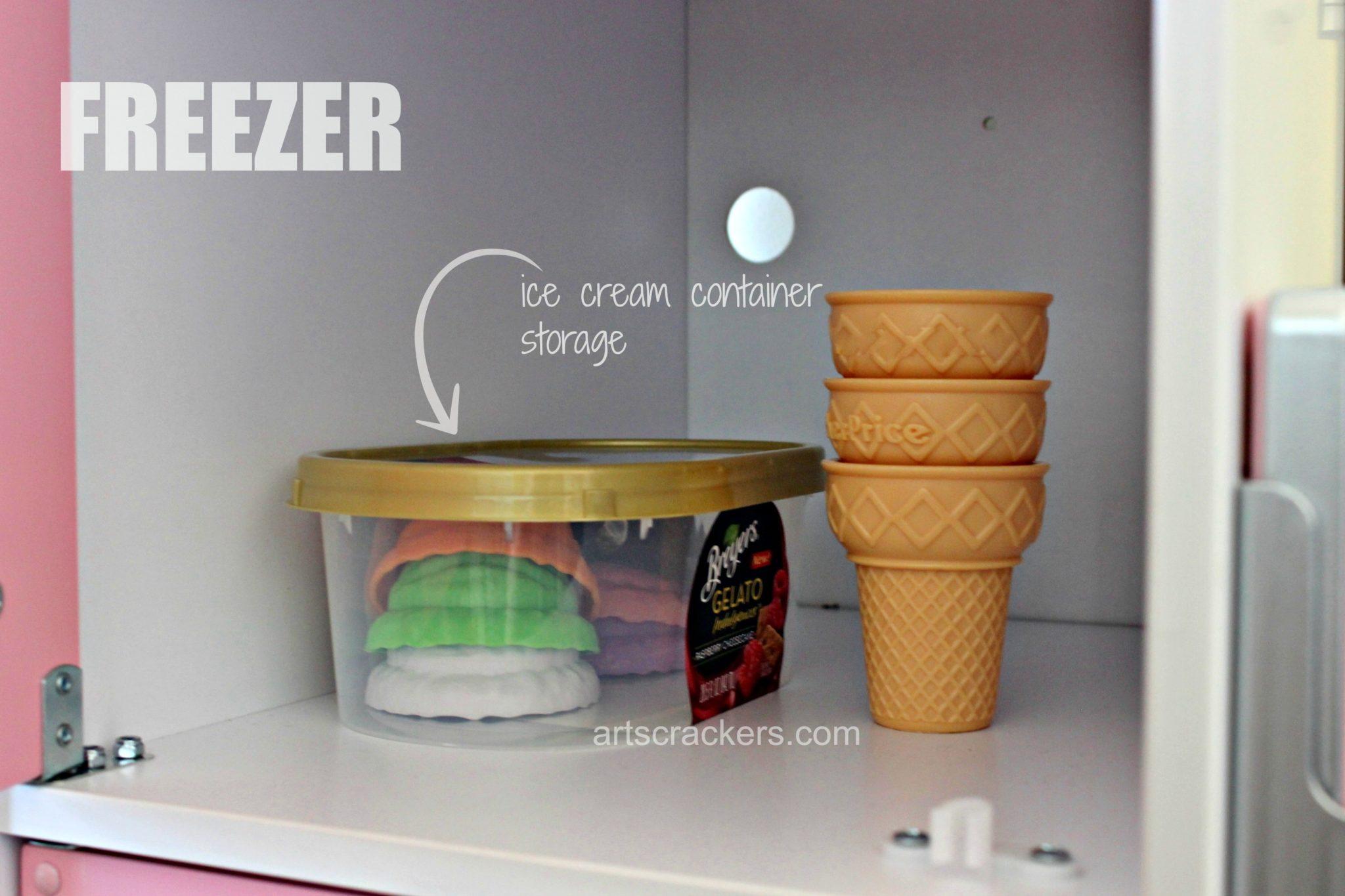 KidKraft Uptown Pastel Kitchen Freezer