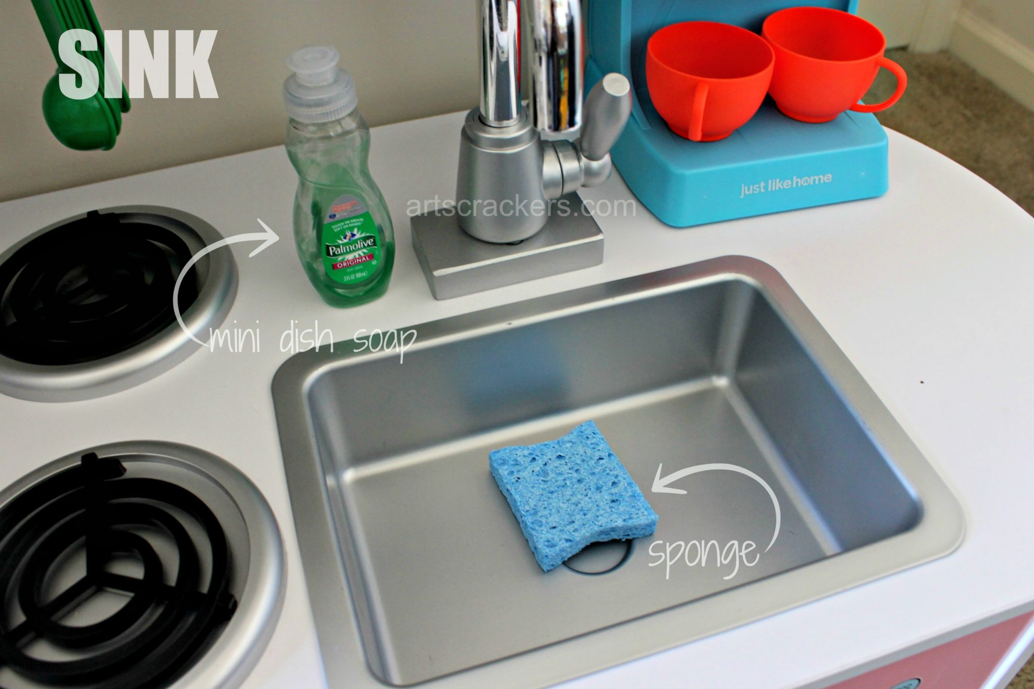 KidKraft Uptown Pastel Kitchen Sink