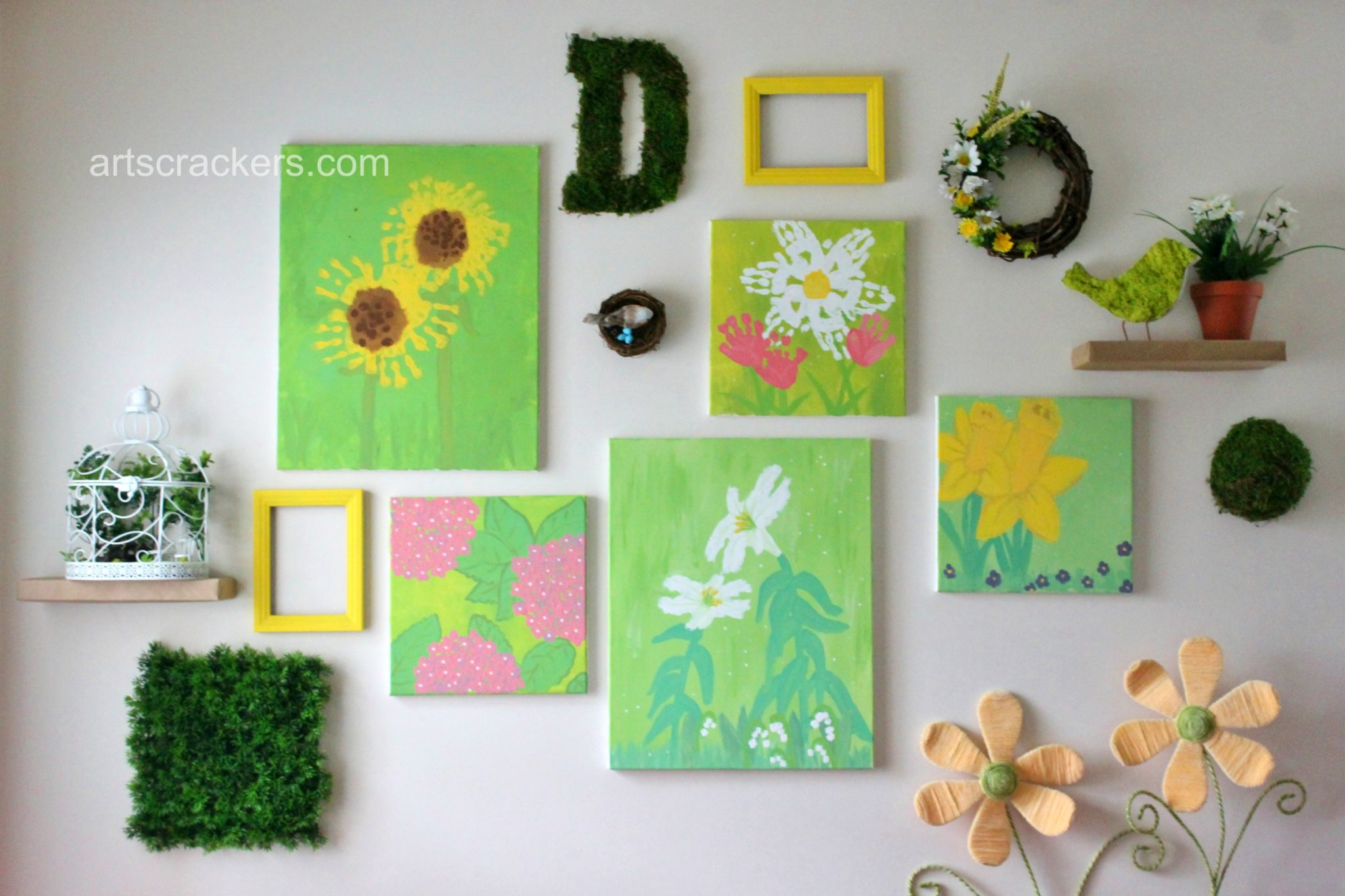 Spring Wall Collage Decor