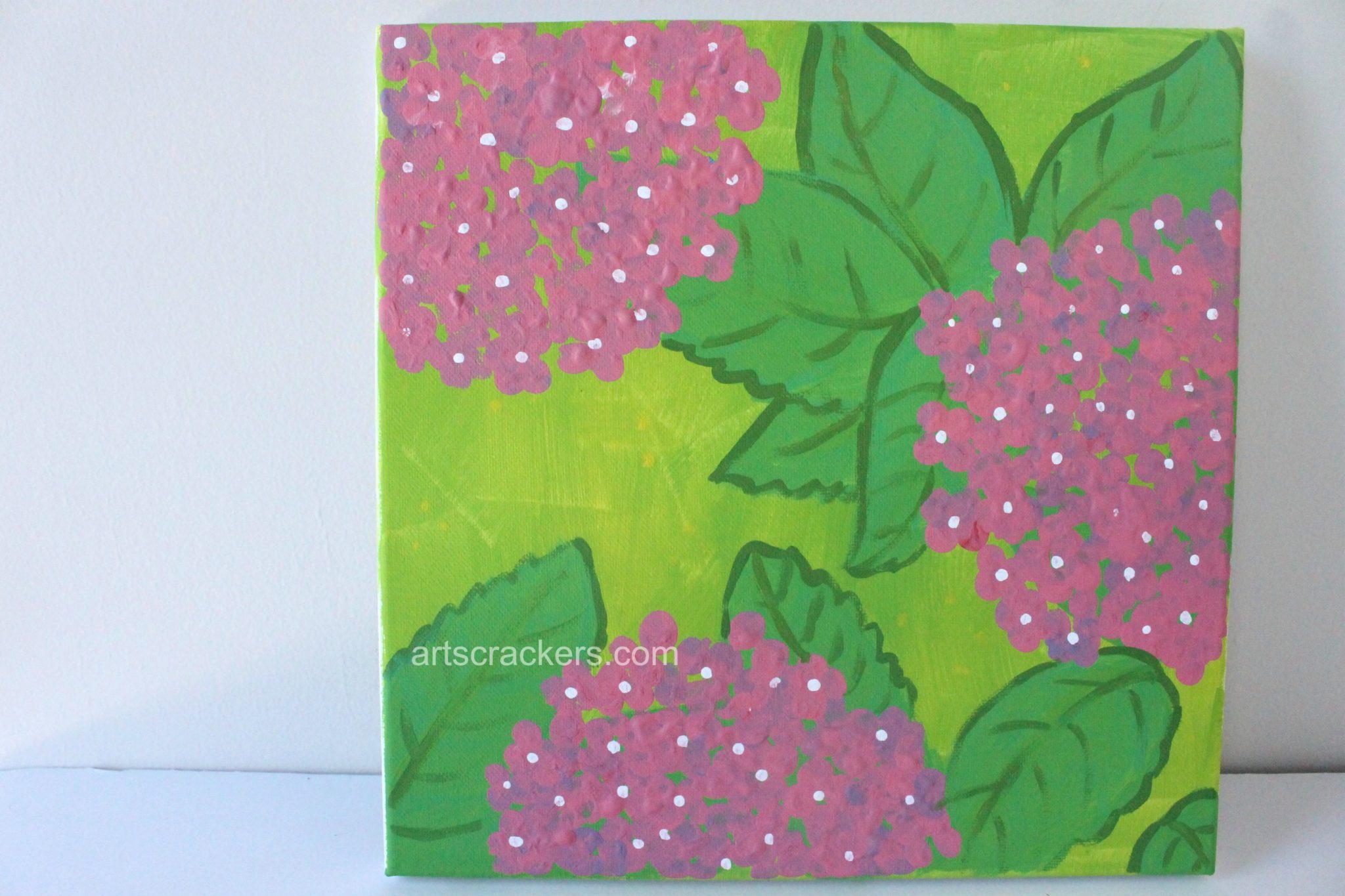 Spring Wall Fingerprint Flowers