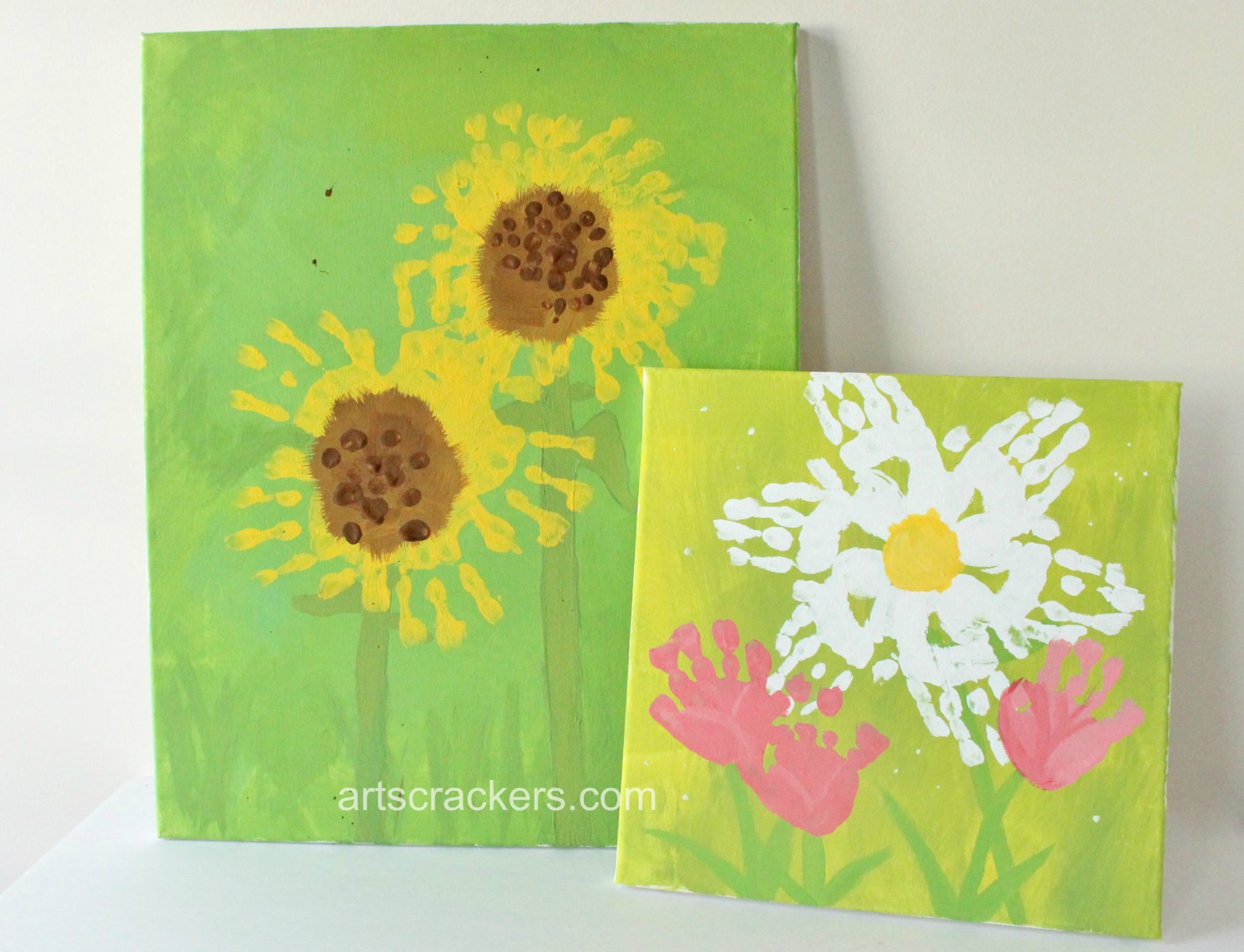 Spring Wall Handprint Flowers