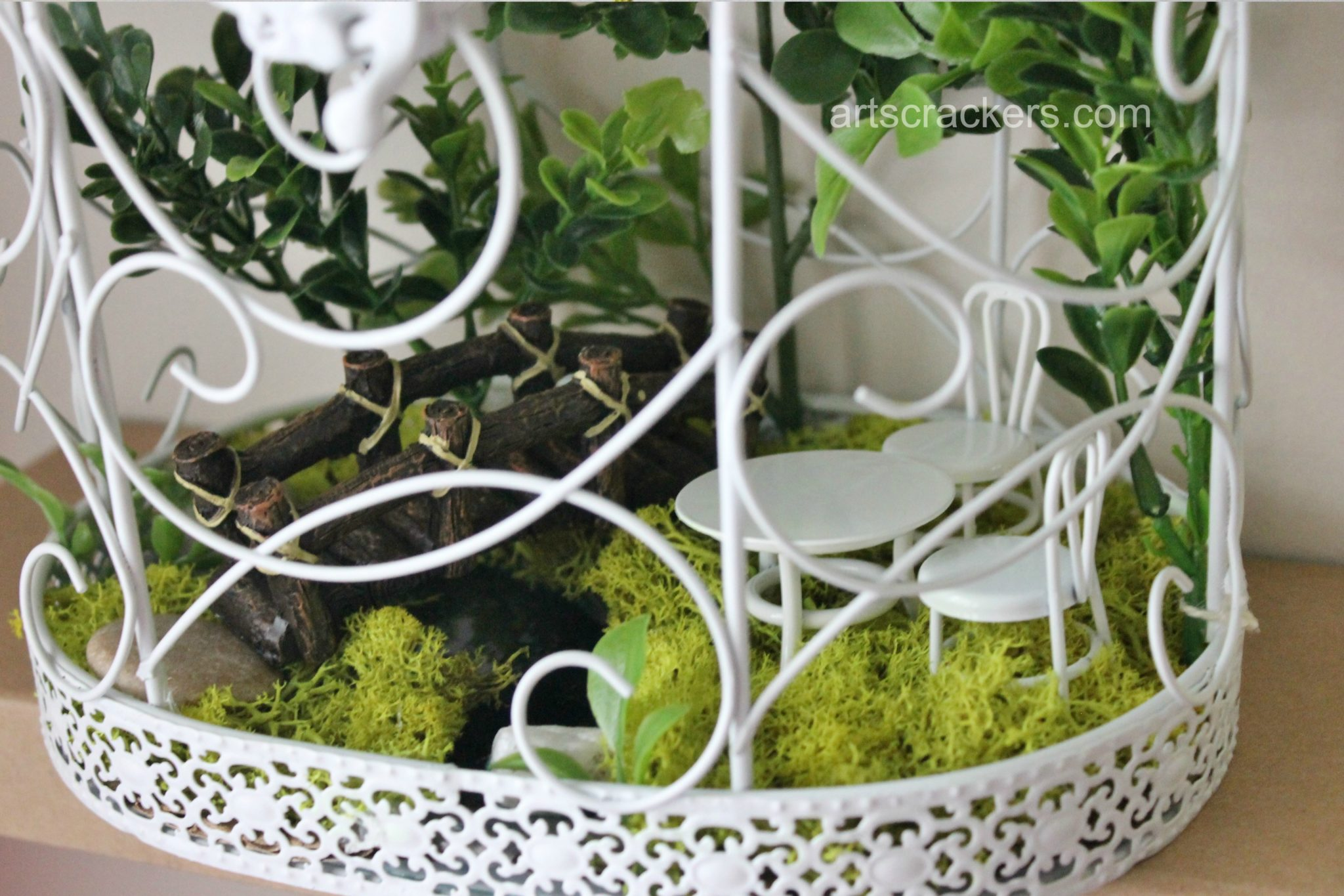 Spring Wall Scenic Bird Cage