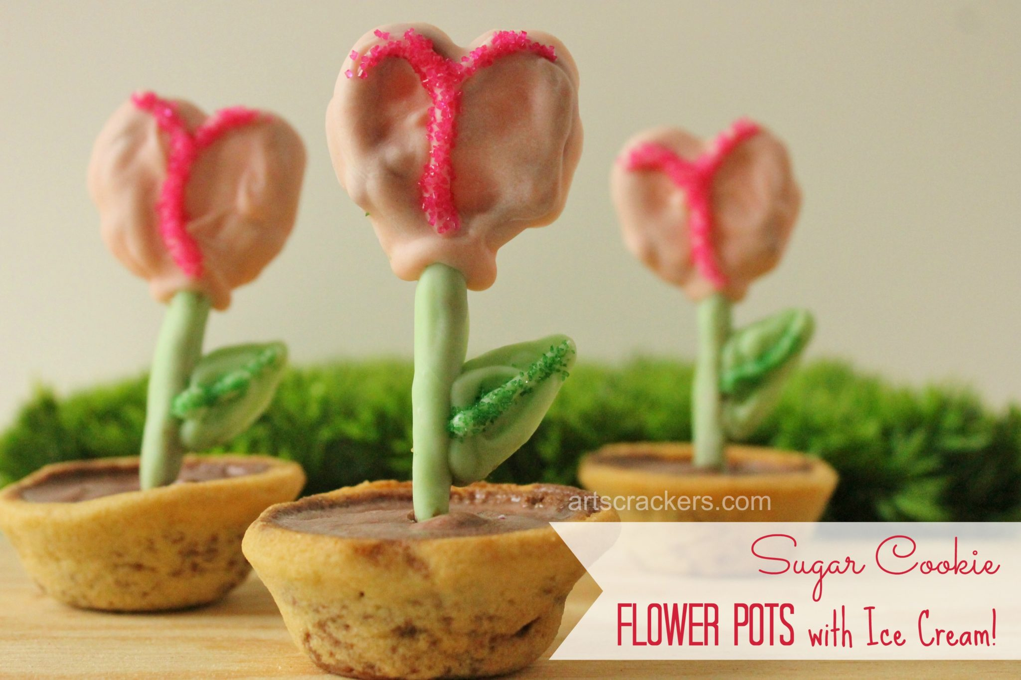 Sugar Cookie Flower Pots. Click the picture to view the instructions.