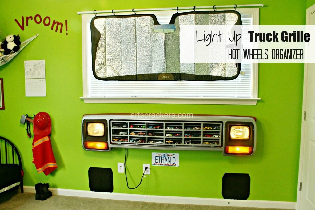 DIY Light-Up Truck Grille Toy Car Organizer – Arts & Crackers