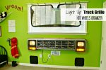 DIY Light-Up Truck Grille Toy Car Organizer