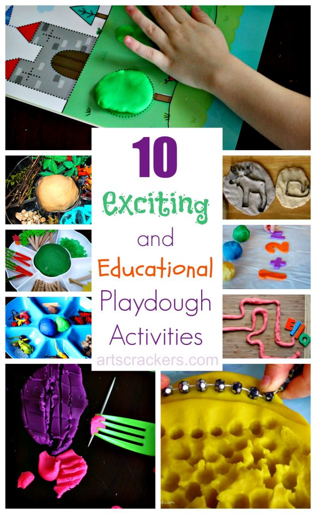10 Exciting and Educational Play dough Activities. Click the picture to read more.