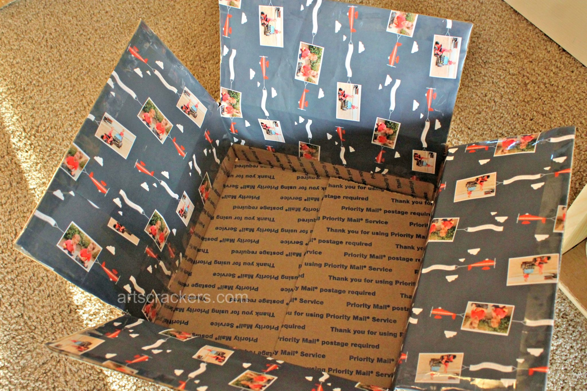 Care Package Box Liner Photo Wrapping Paper. Click the picture for more.