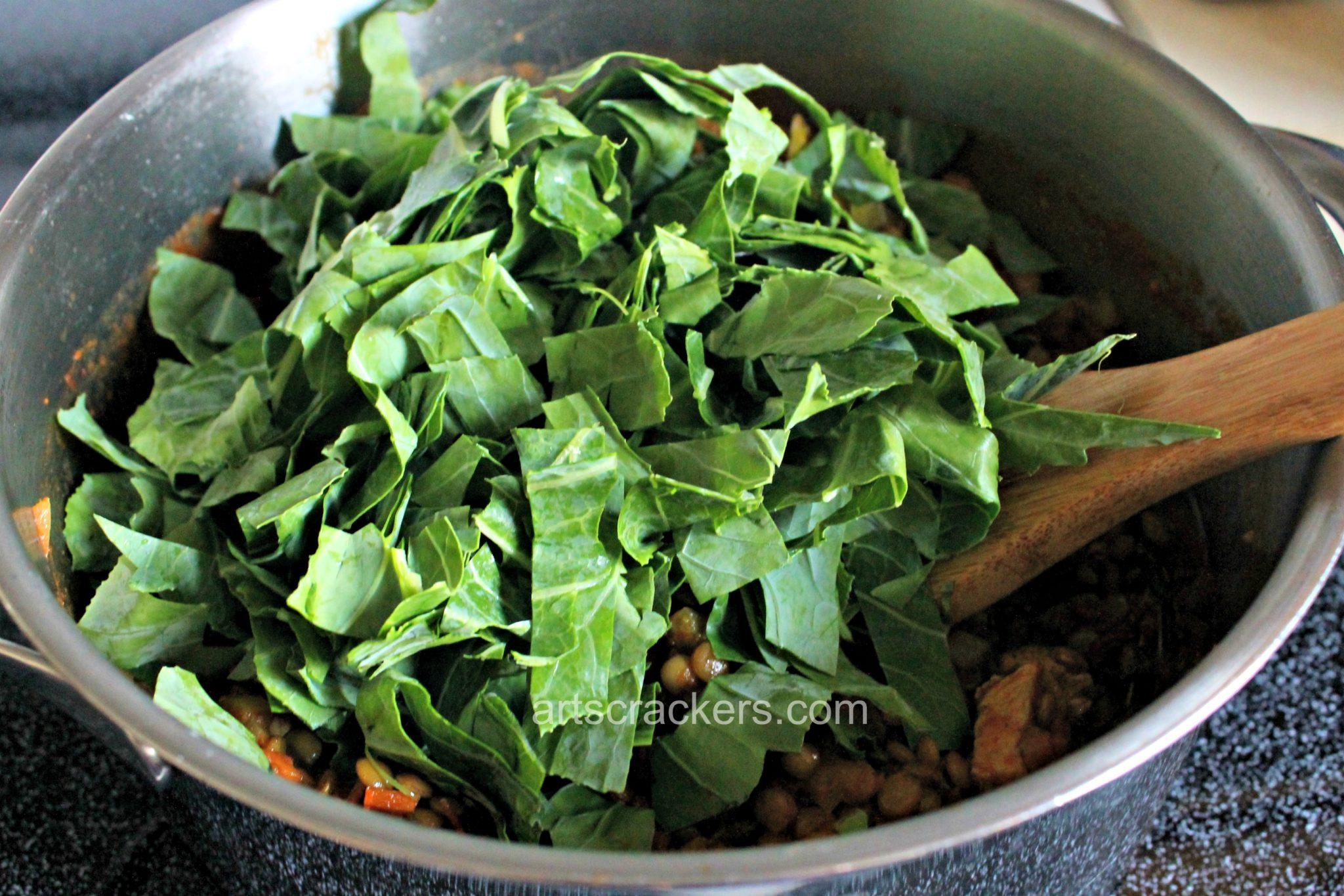 Chicken and Lentil Bowl Add Collard Greens