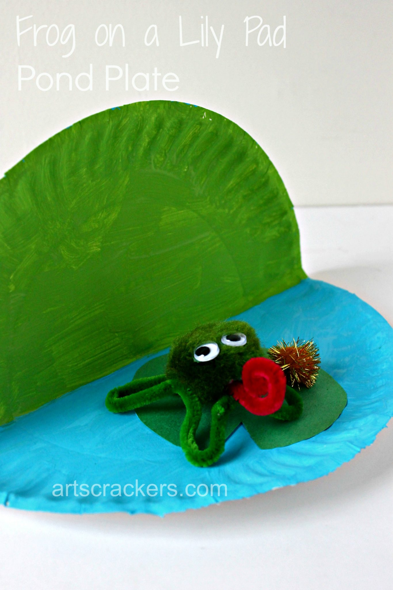 Frog on a Lily Pad Pond Plate Project. Click the picture to read the instructions and get bonus ideas.