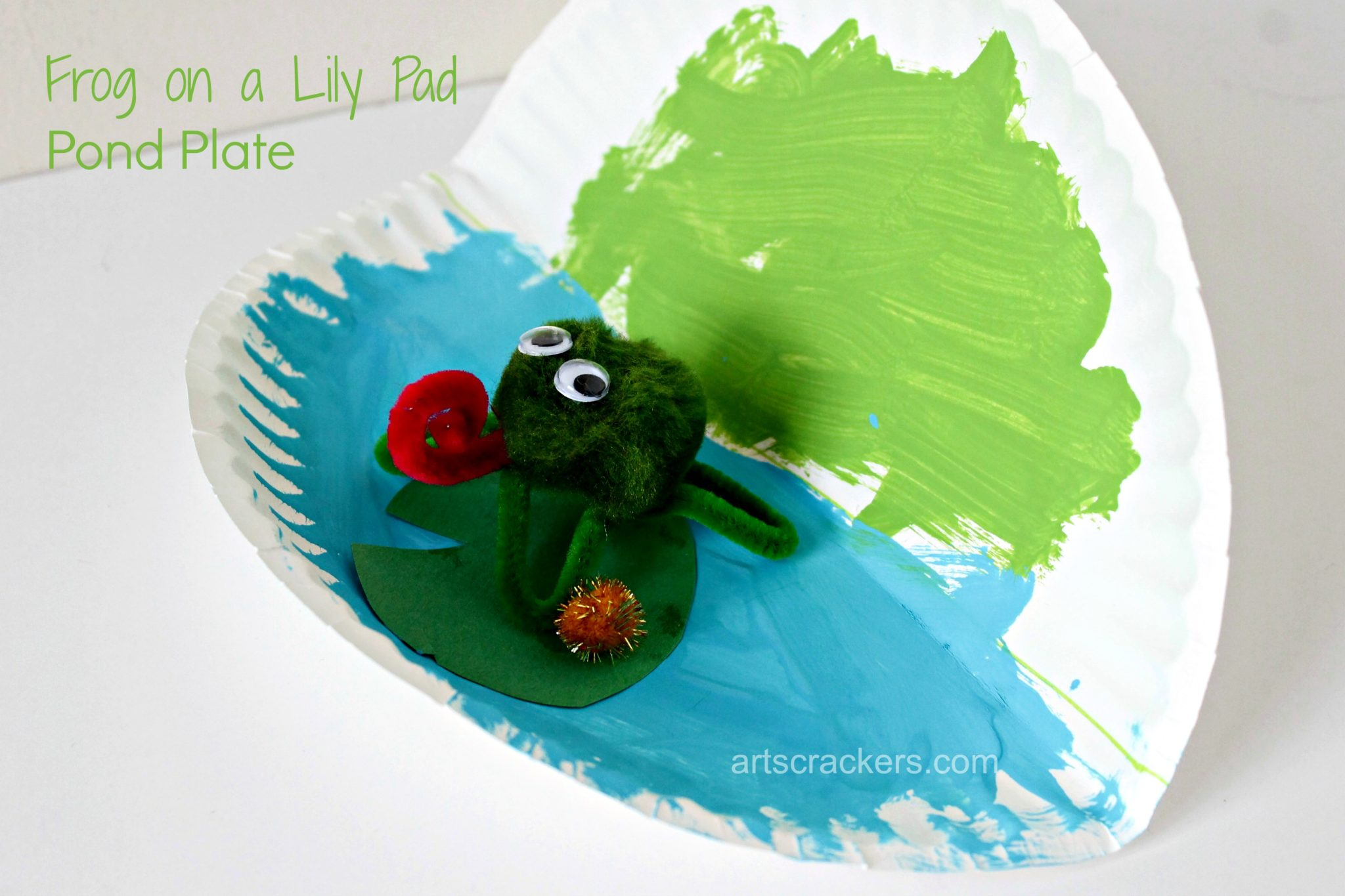 Frog on a Lily Pad Pond Plate Step Kid Made.